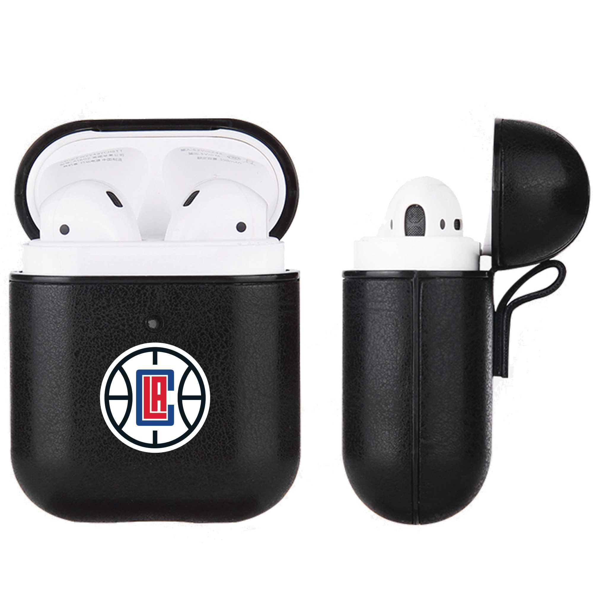 LA Clippers Air Pods Black Leatherette Case
