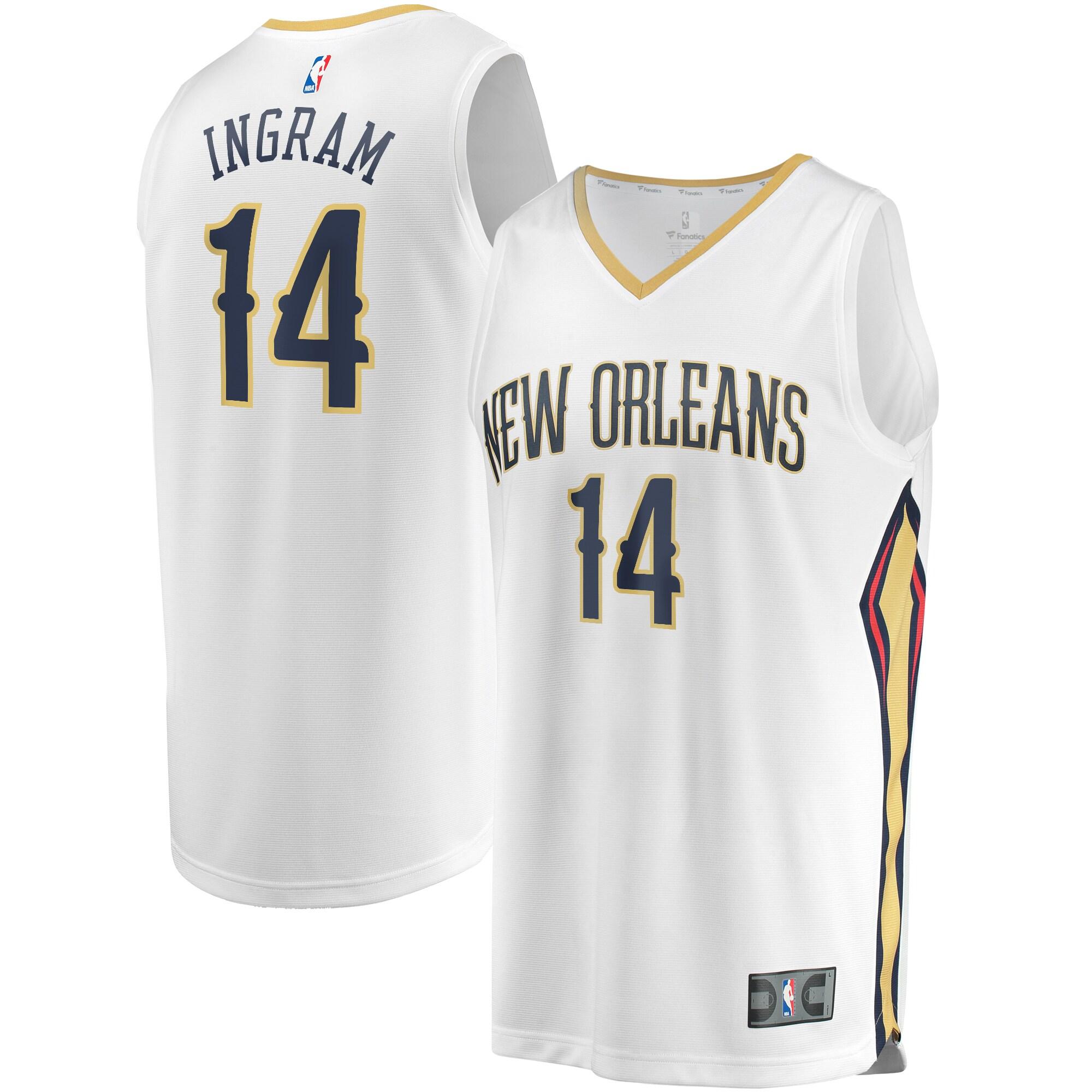 Brandon Ingram New Orleans Pelicans Fanatics Branded Youth Fast Break Replica Jersey White - Association Edition