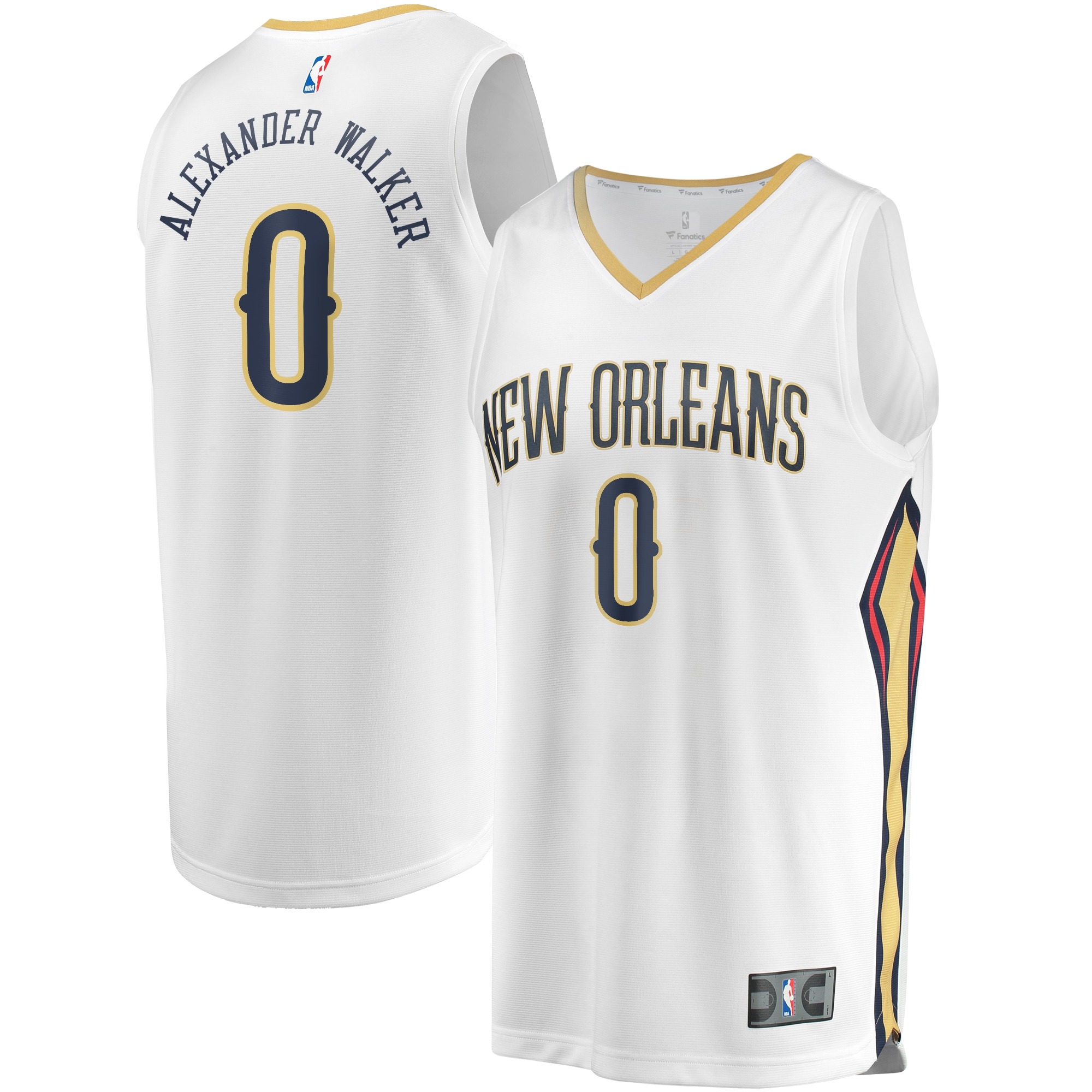 Nickeil Alexander-Walker New Orleans Pelicans Fanatics Branded Youth Fast Break Replica Jersey White - Association Edition