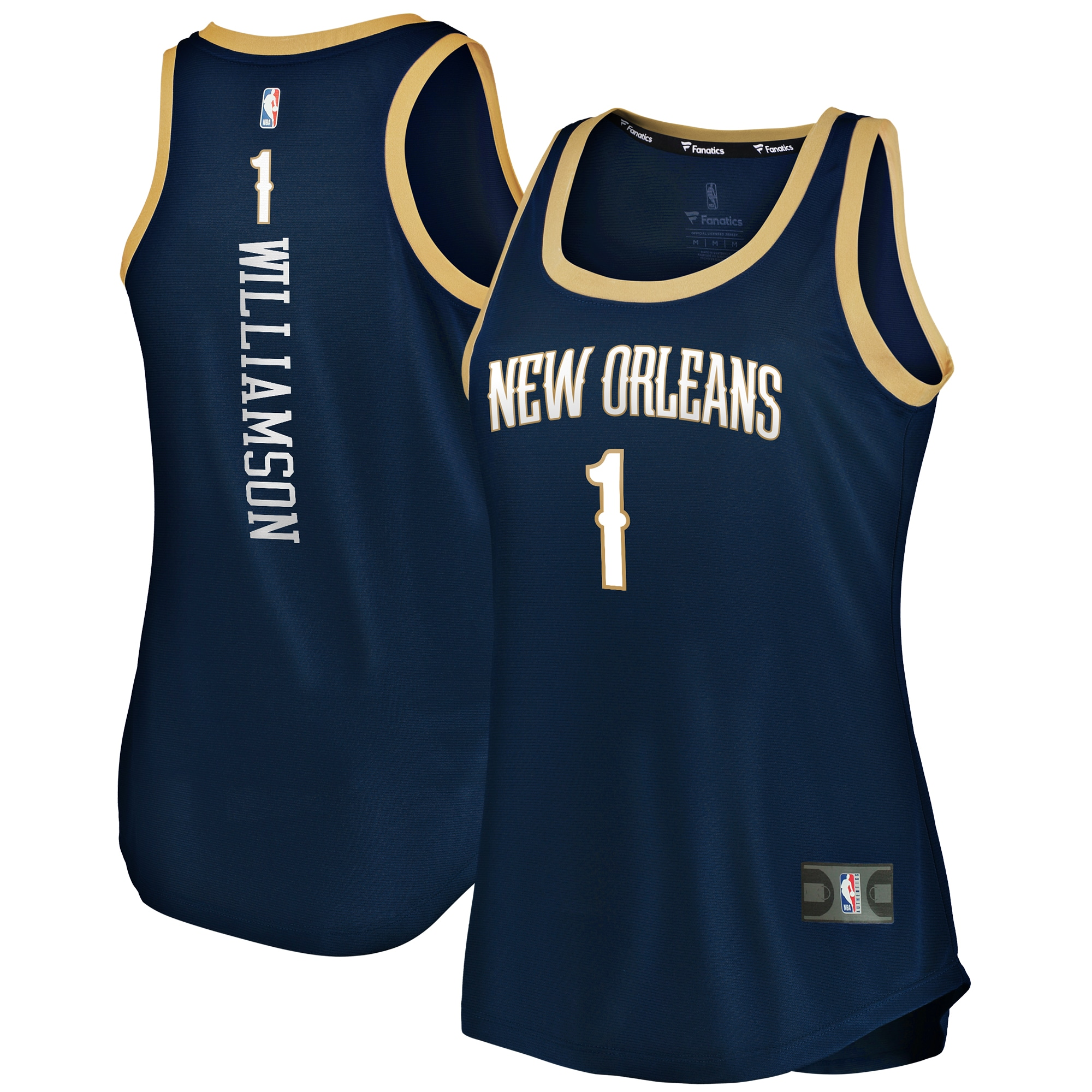 Zion Williamson New Orleans Pelicans Fanatics Branded Women's 2019/20 Fast Break Team Tank Jersey - Icon Edition - Navy