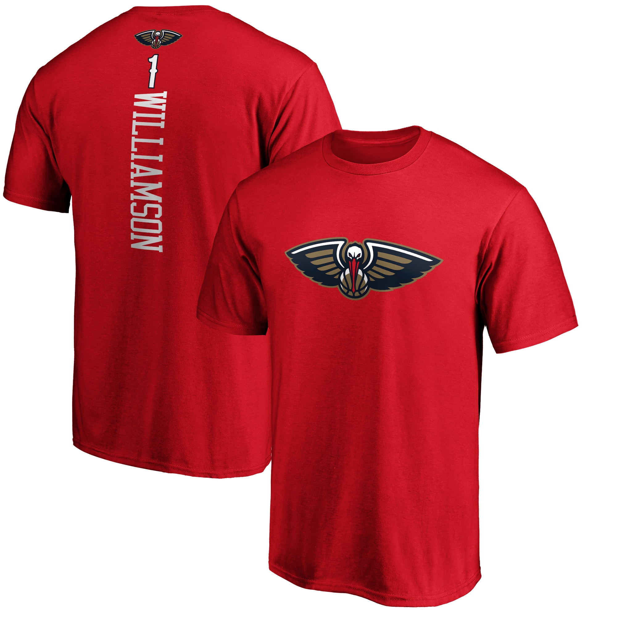 Zion Williamson New Orleans Pelicans Fanatics Branded Playmaker Name & Number Team T-Shirt - Red