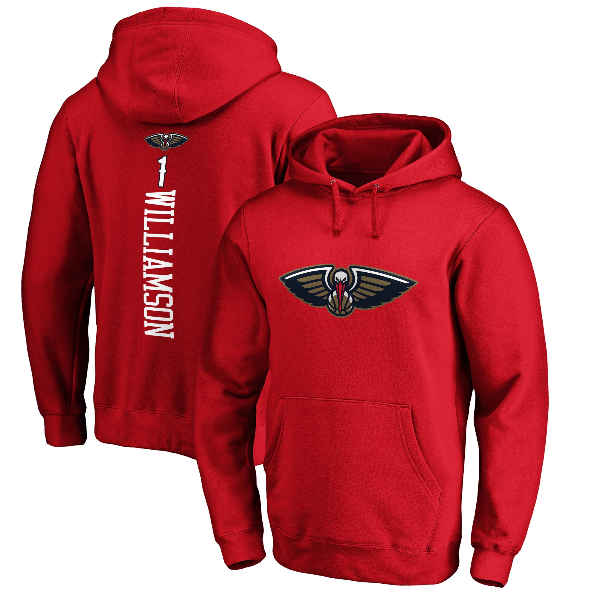 Zion Williamson New Orleans Pelicans Fanatics Branded Playmaker Name & Number Pullover Hoodie - Red