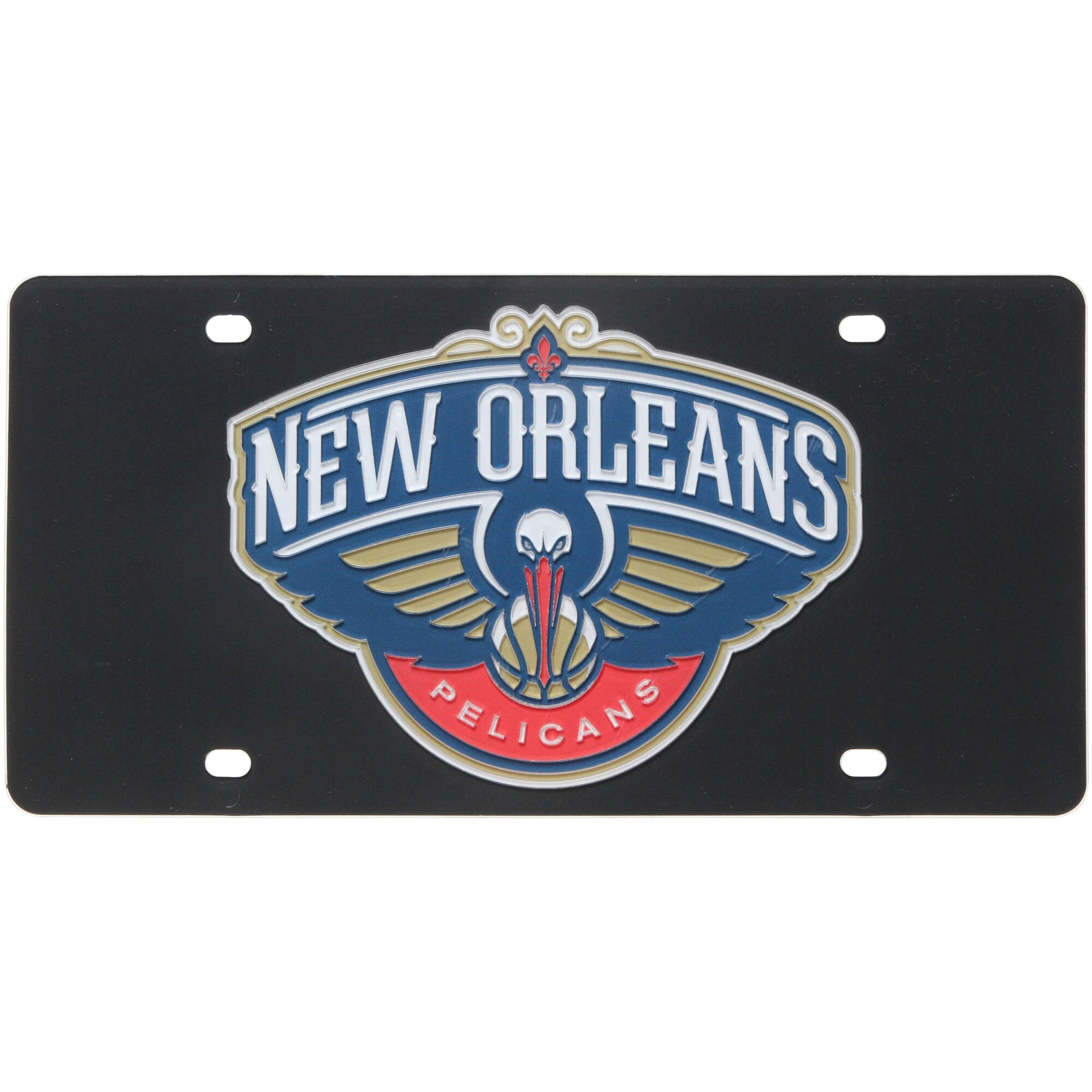 New Orleans Pelicans License Plate - Black