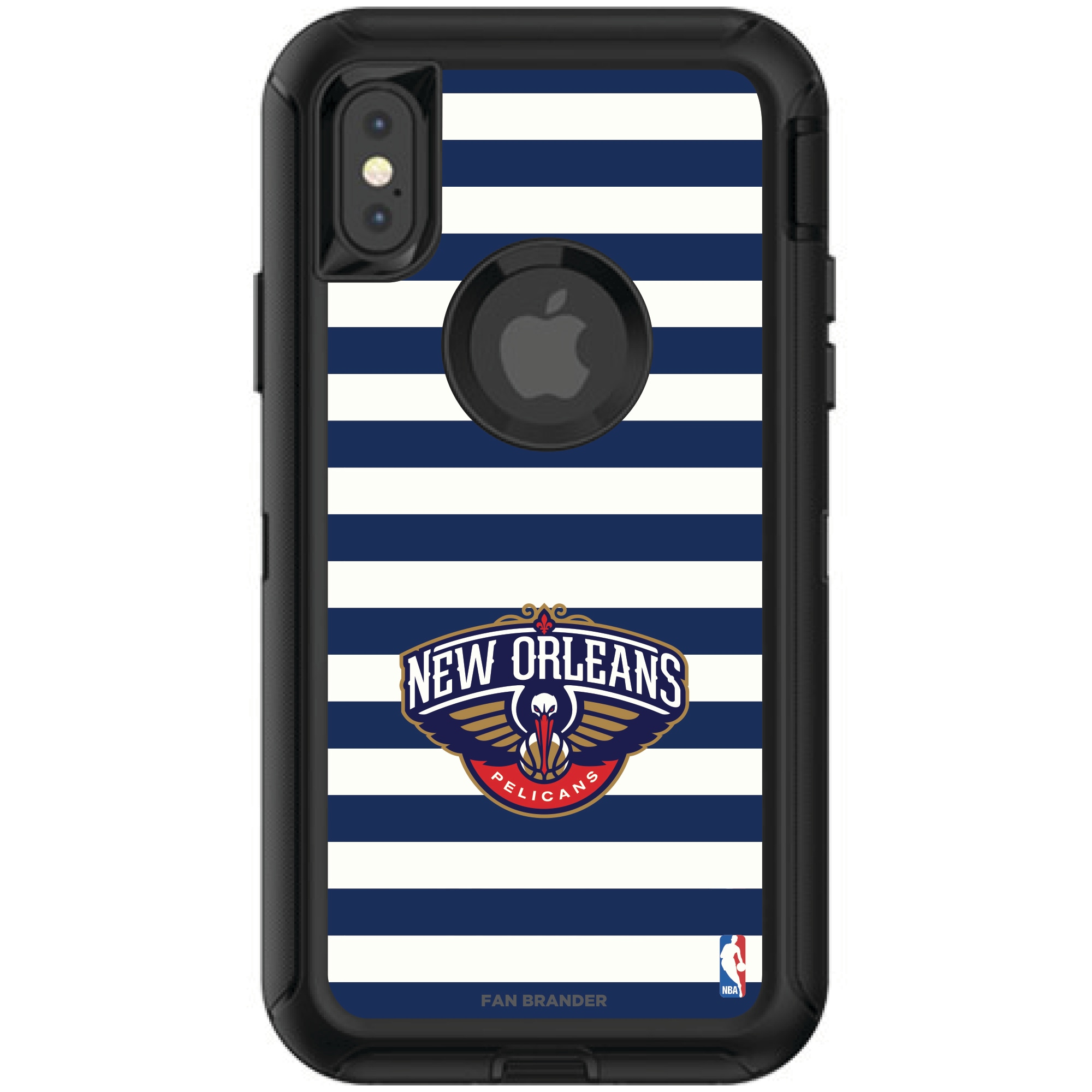 New Orleans Pelicans OtterBox iPhone Defender Striped Design Case