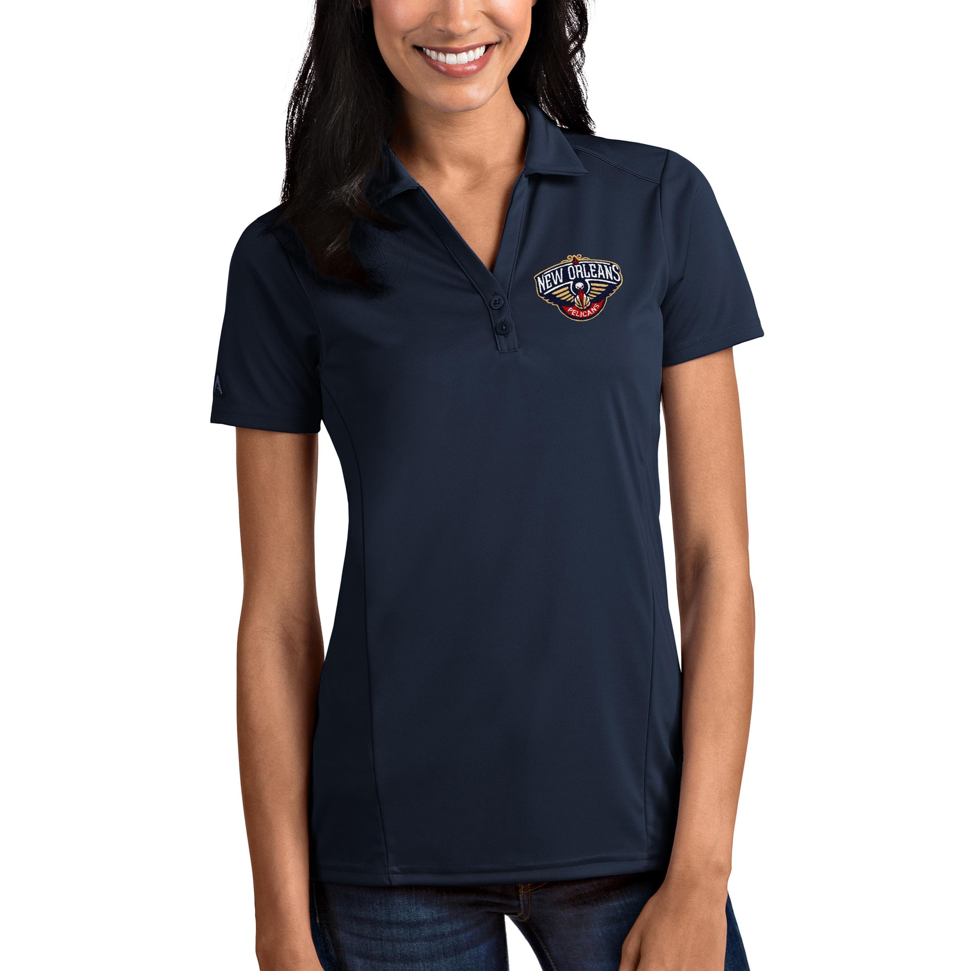 New Orleans Pelicans Antigua Women's Tribute Polo - Navy