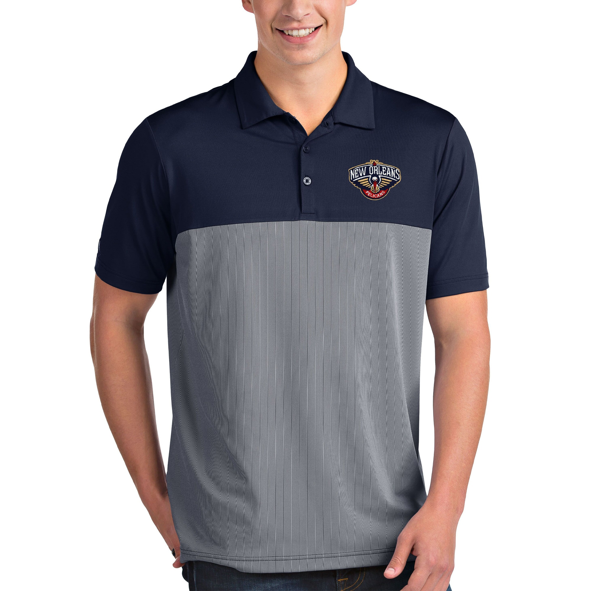 New Orleans Pelicans Antigua Venture Polo - Navy/White