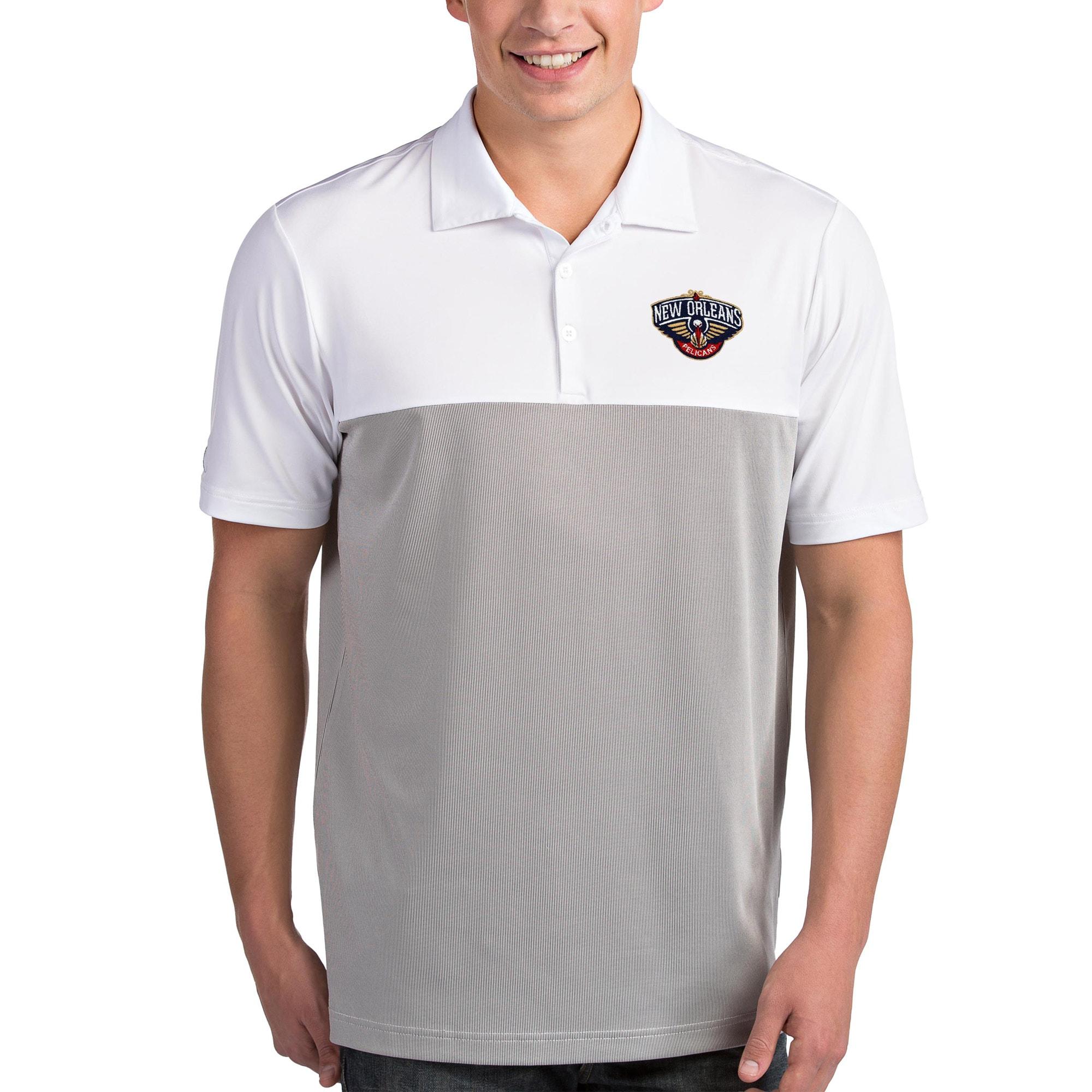 New Orleans Pelicans Antigua Venture Polo - White/Gray