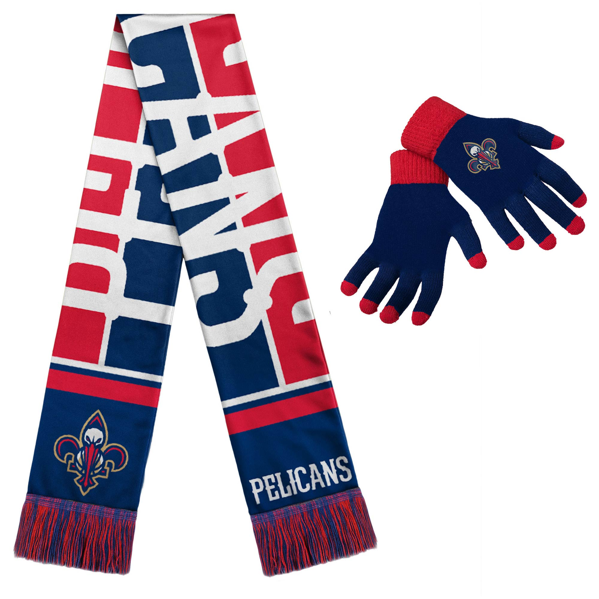 New Orleans Pelicans Hol Gloves & Scarf Set