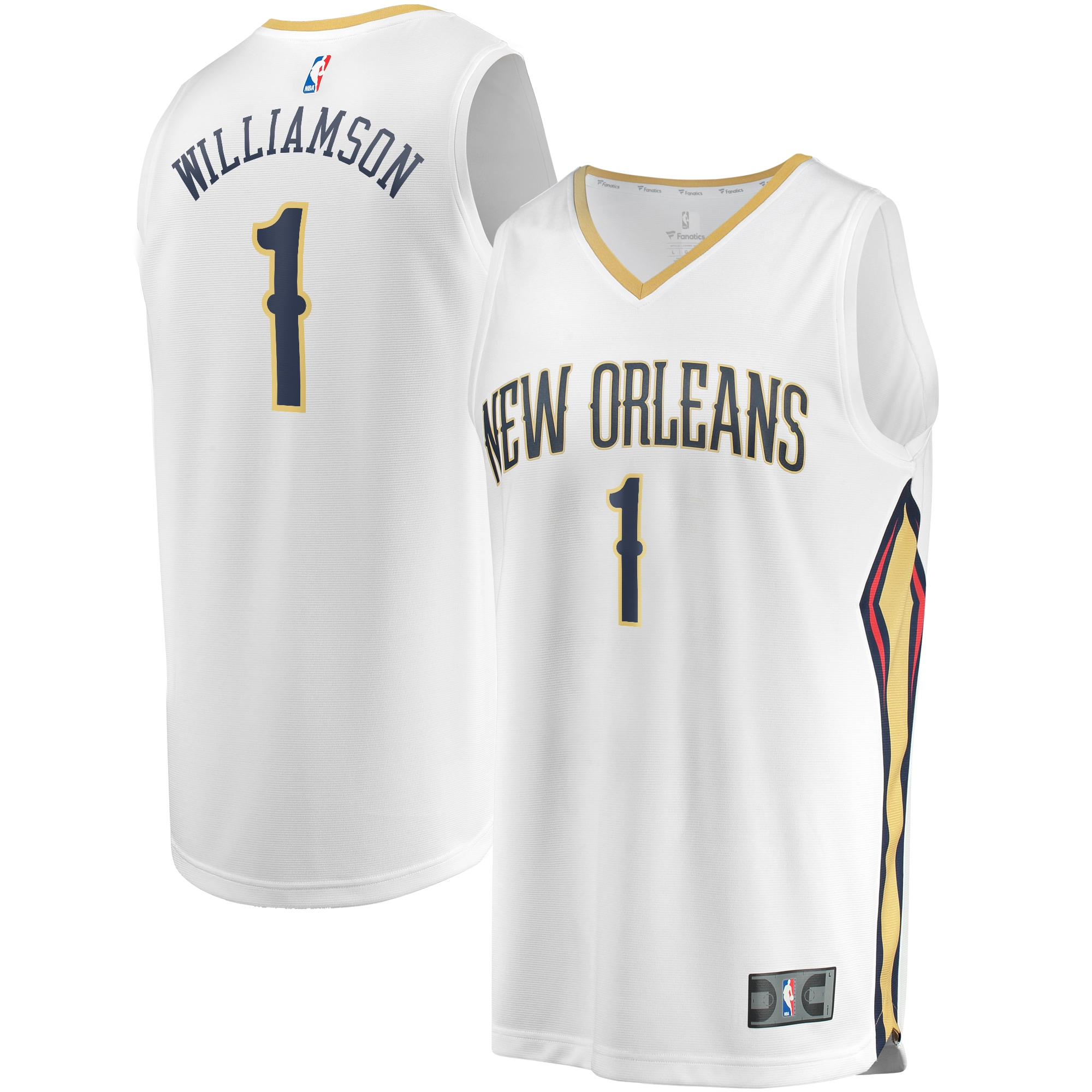 Zion Williamson New Orleans Pelicans Fanatics Branded Youth Fast Break Replica Player Jersey - Association Edition - White