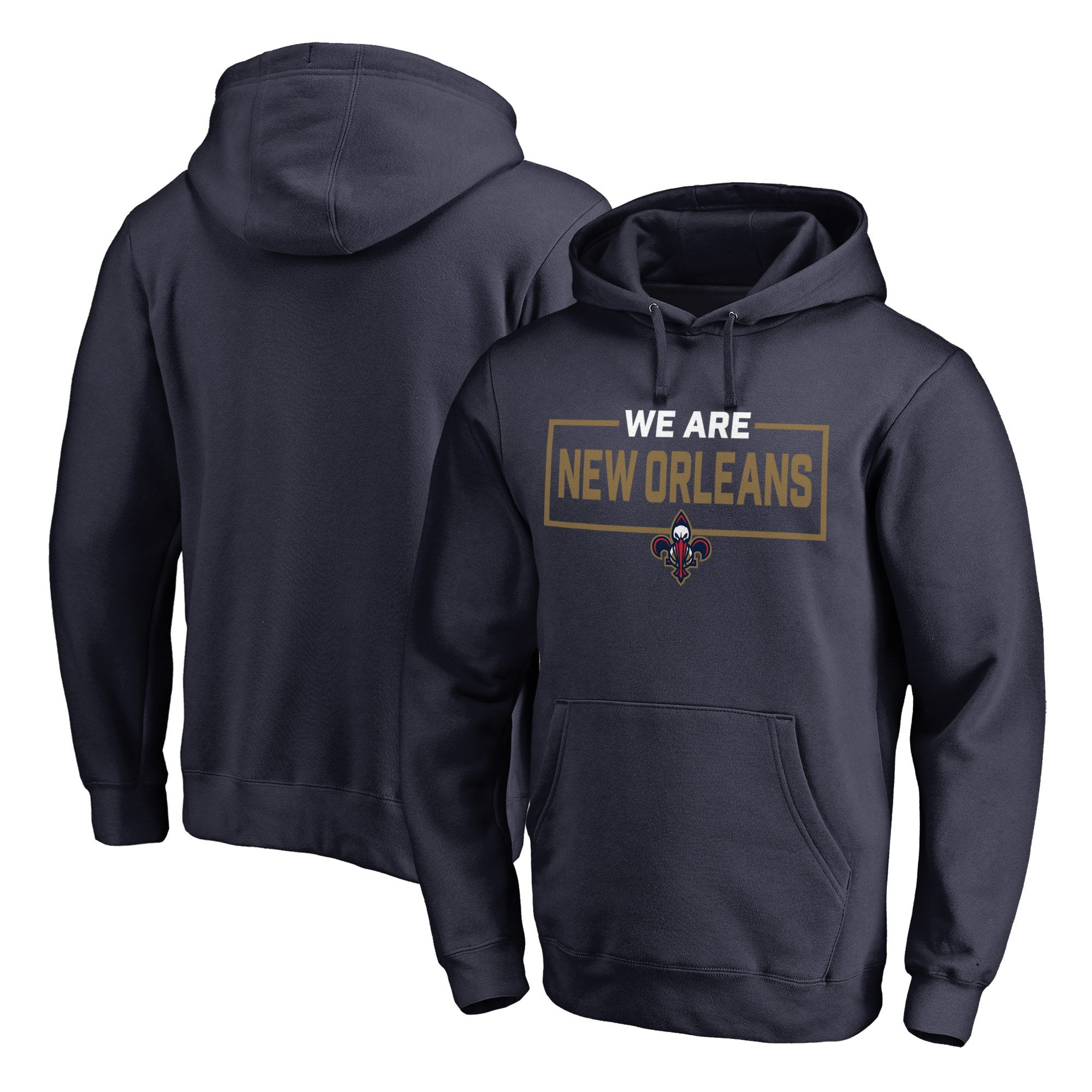 New Orleans Pelicans Fanatics Branded We Are Iconic Collection Pullover Hoodie - Navy