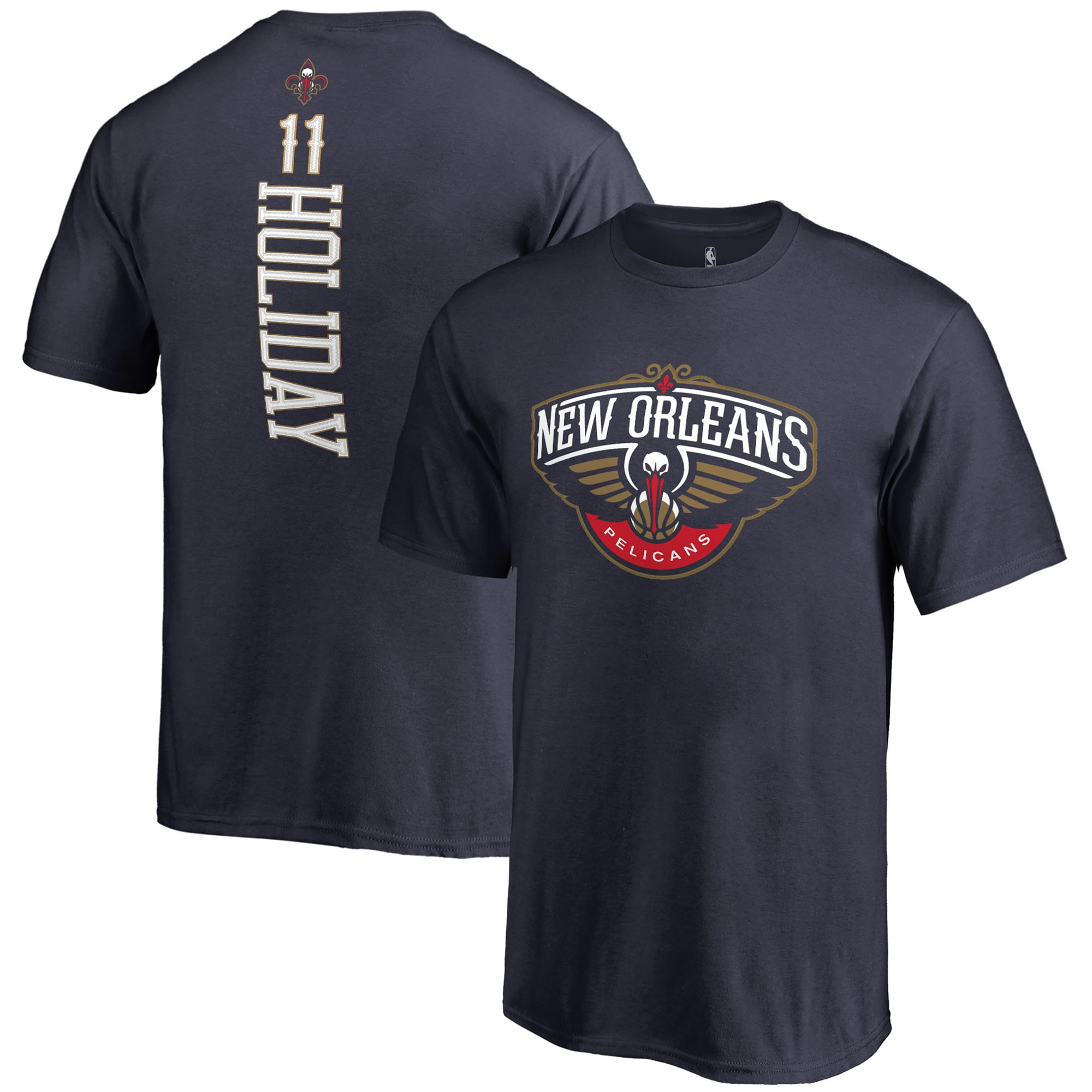 Jrue Holiday New Orleans Pelicans Fanatics Branded Youth Backer Name and Number T-Shirt - Navy