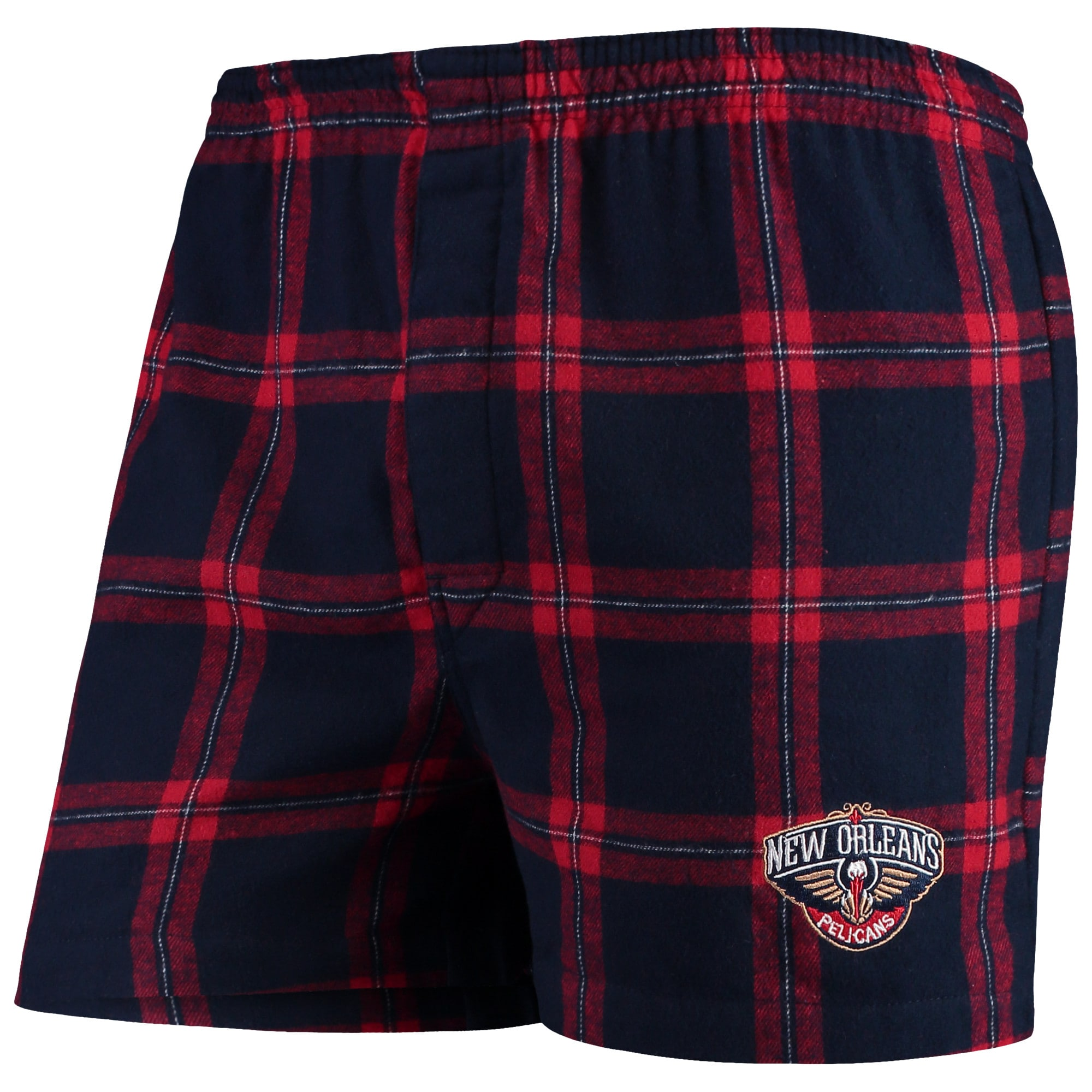 New Orleans Pelicans Concepts Sport Homestretch Flannel Boxer Shorts - Navy