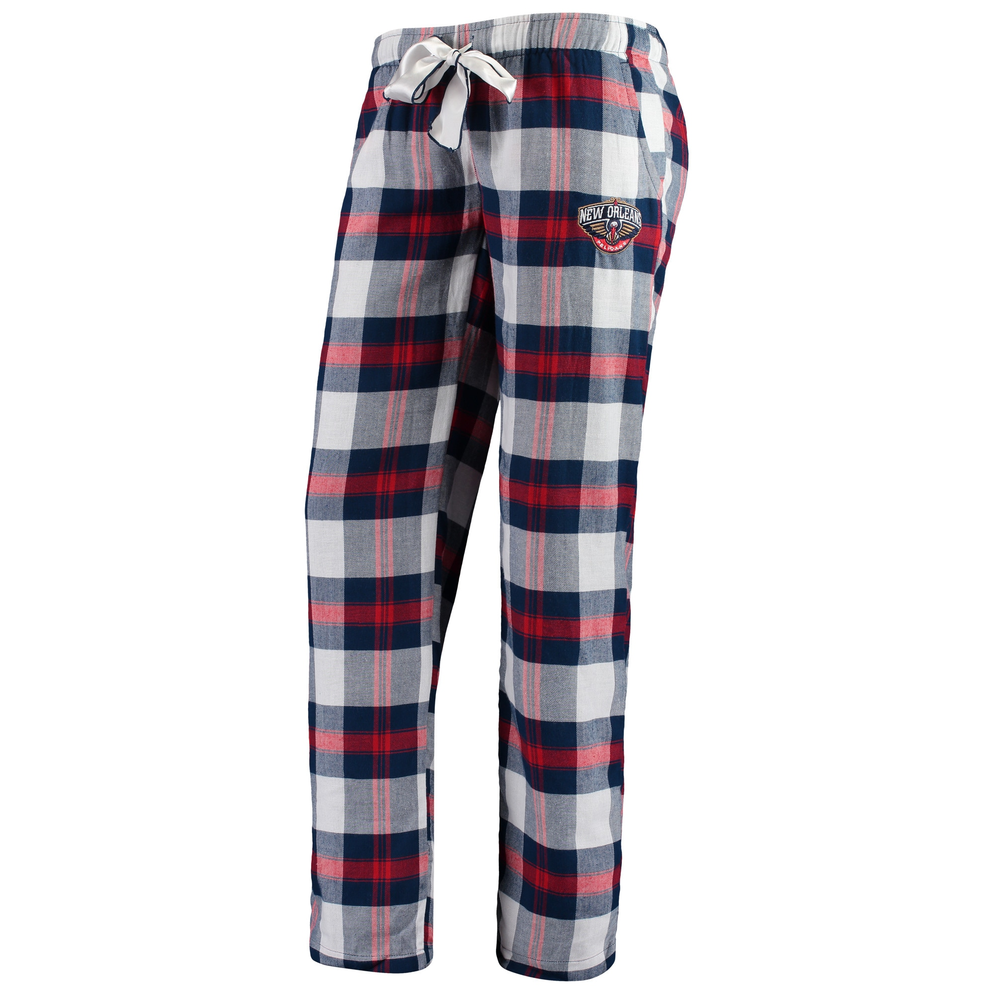 New Orleans Pelicans Concepts Sport Women's Headway Flannel Pants - Navy/Red