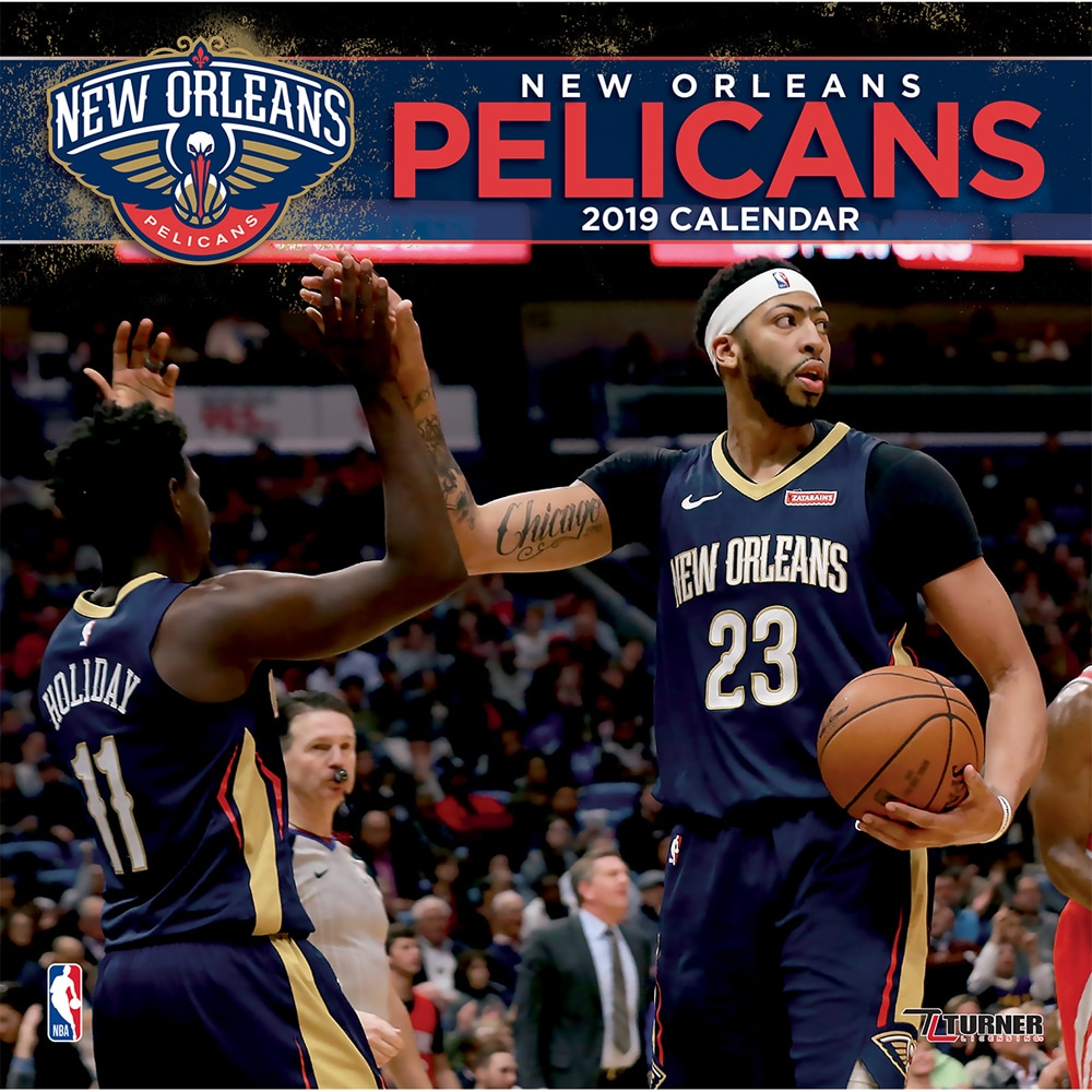 "New Orleans Pelicans 2019 12"" x 12"" Team Wall Calendar"