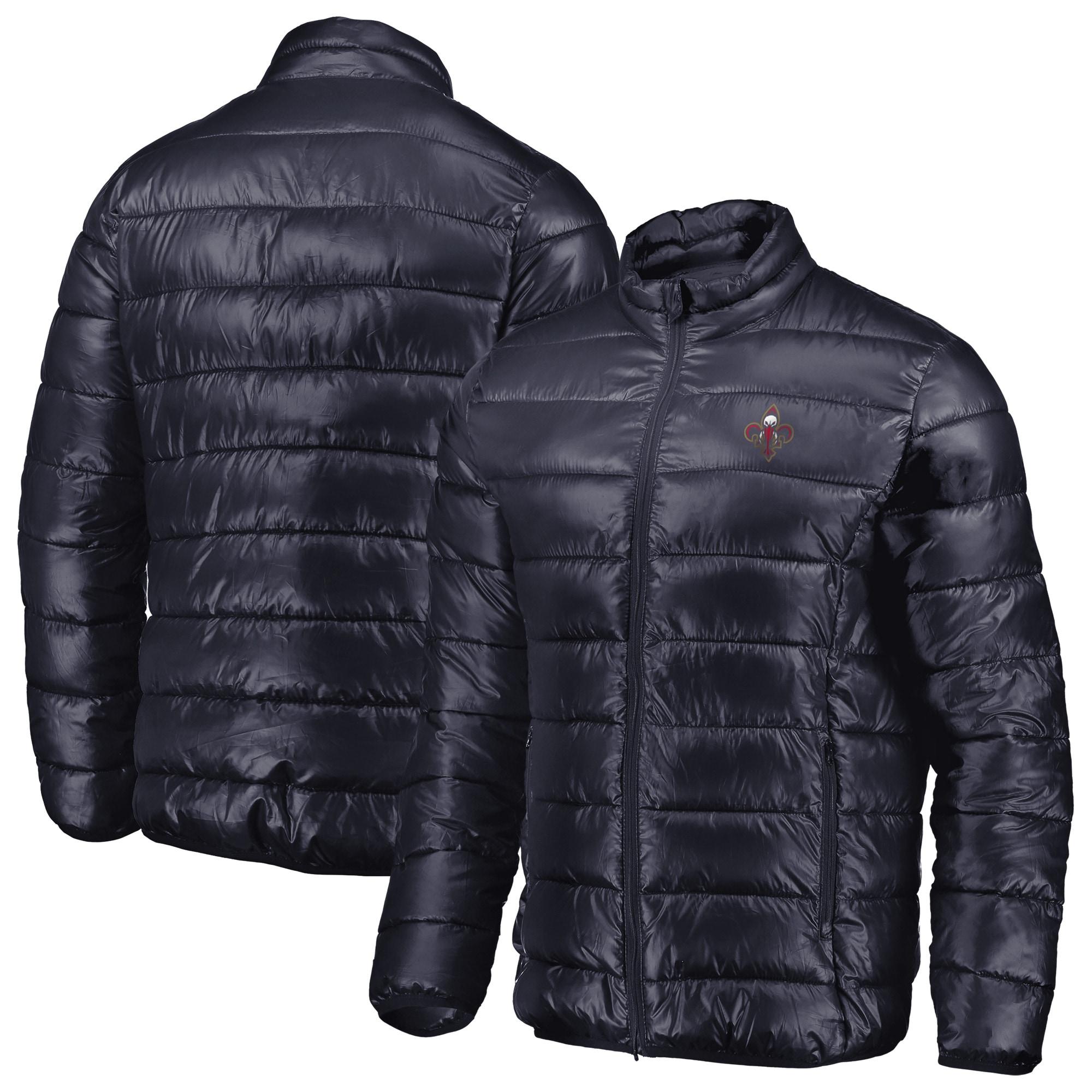 New Orleans Pelicans Fanatics Branded Heater Puffer Full-Zip Jacket - Navy