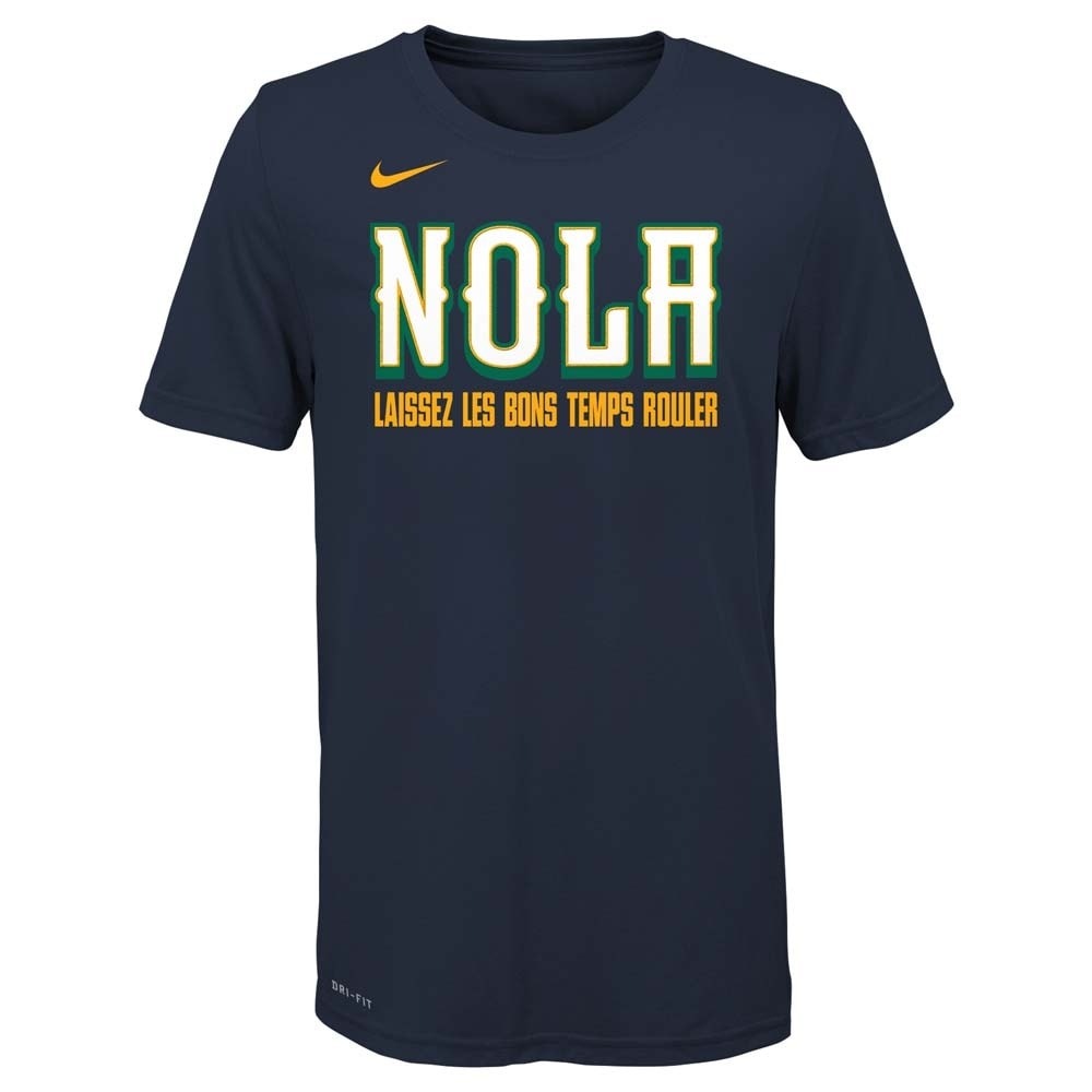 New Orleans Pelicans Nike Youth City Edition Logo T-Shirt - Navy