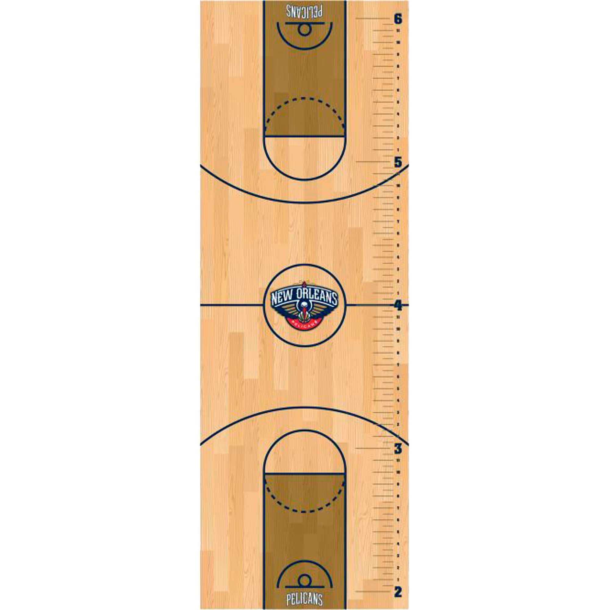 New Orleans Pelicans Fathead Basketball Court Large Removable Growth Chart