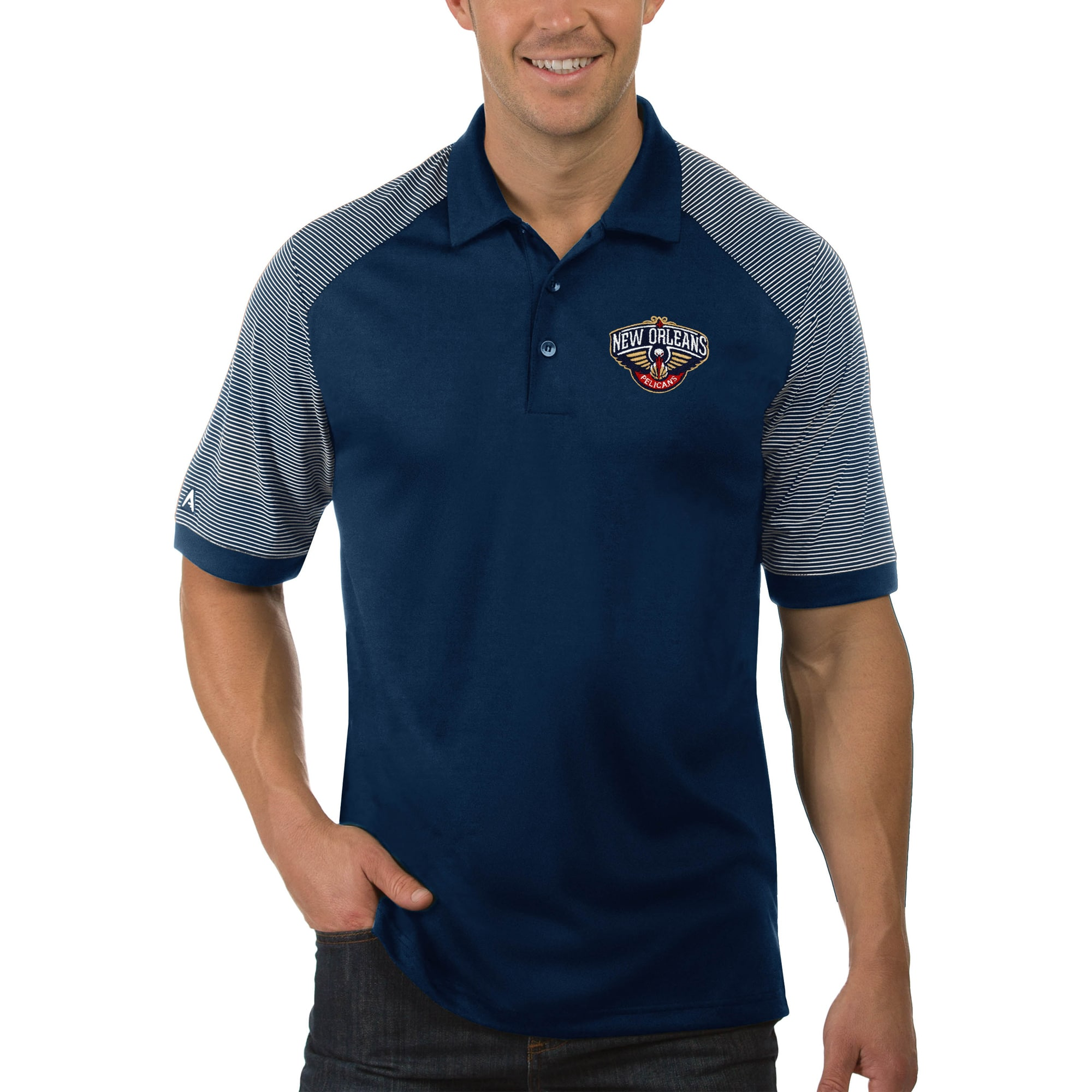 New Orleans Pelicans Antigua Engage Big & Tall Polo - Navy
