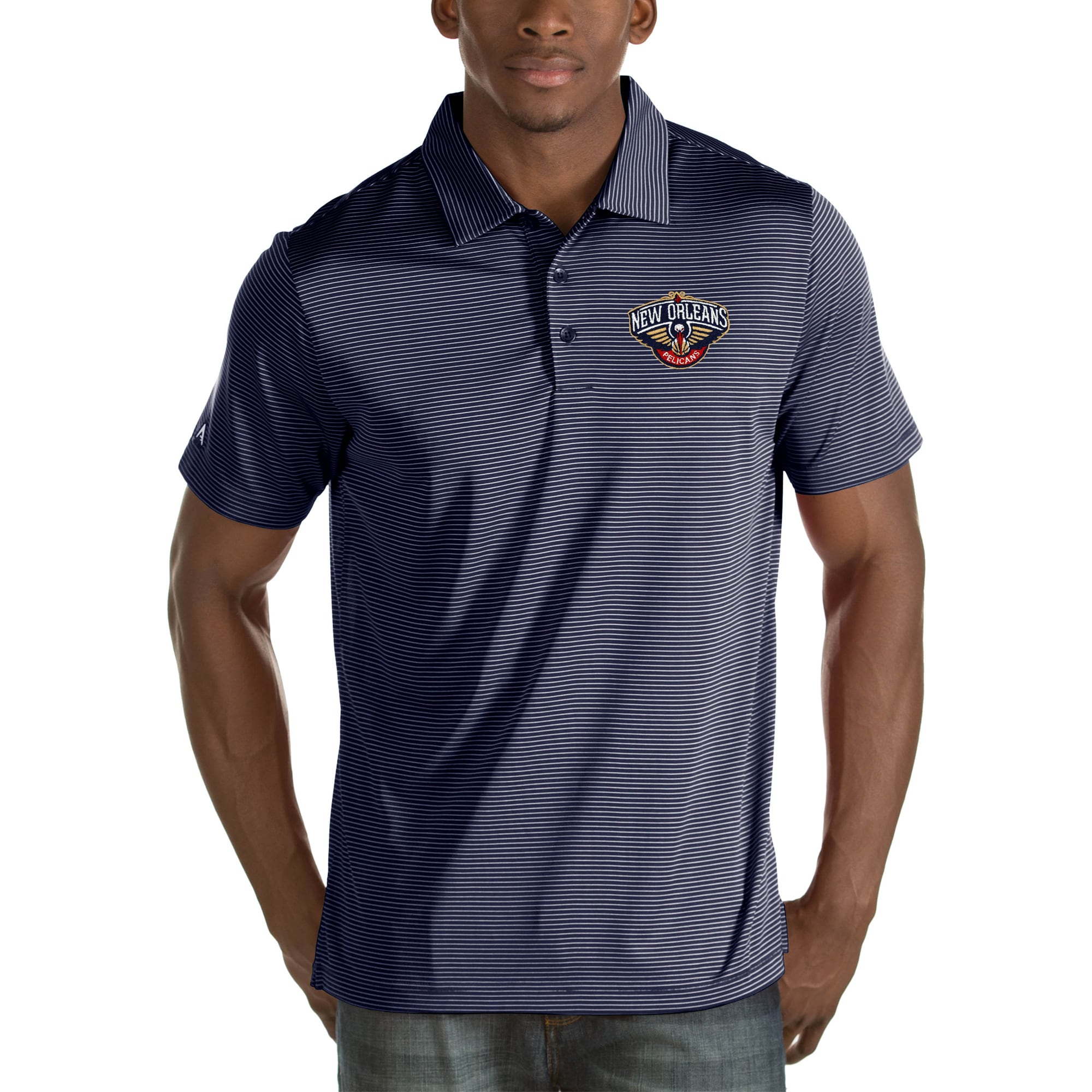 New Orleans Pelicans Antigua Quest Big & Tall Polo - Navy