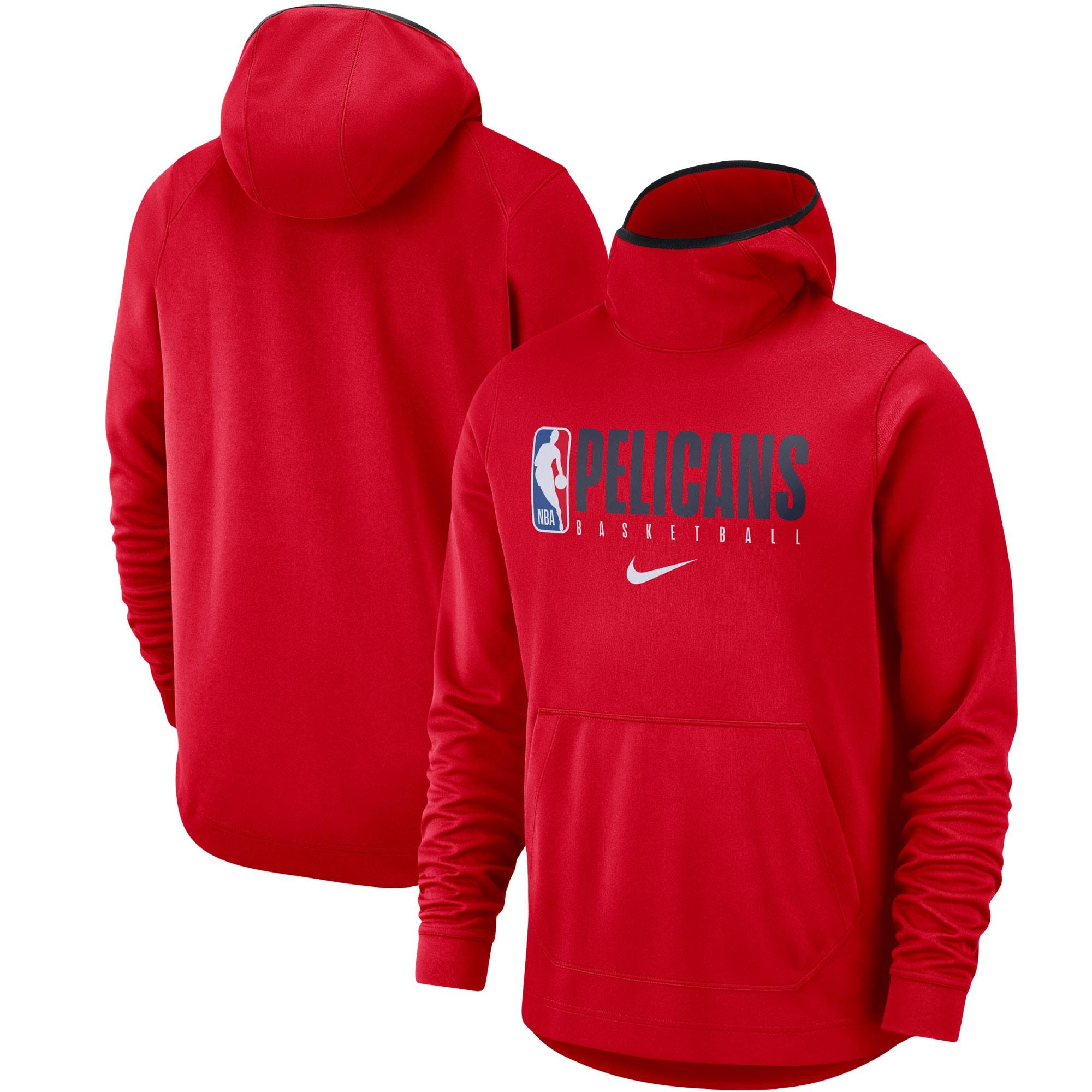 New Orleans Pelicans Nike Spotlight Practice Performance Pullover Hoodie - Red