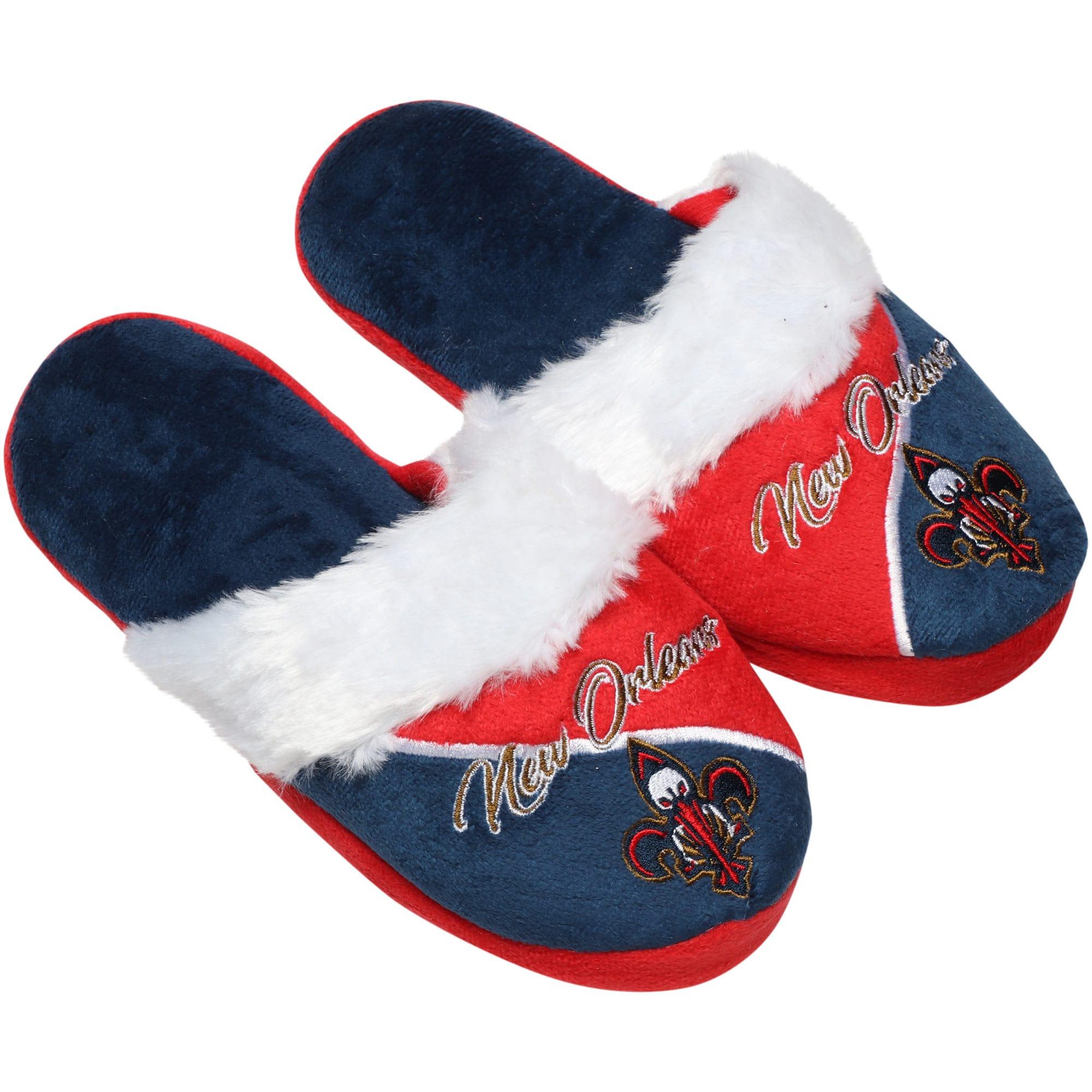 New Orleans Pelicans Women's Cursive Colorblock Slippers