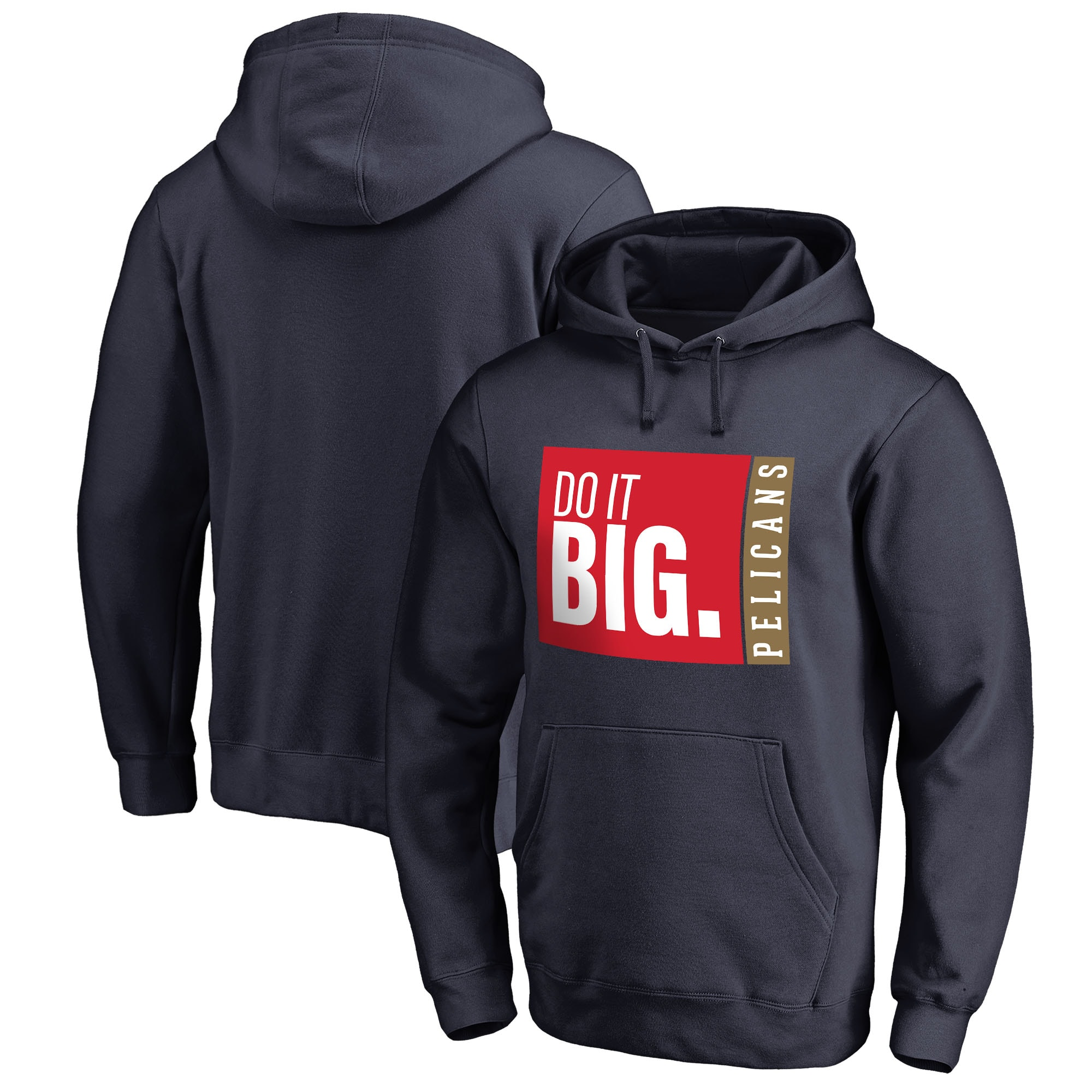 New Orleans Pelicans Fanatics Branded Do It Big Pullover Hoodie - Navy