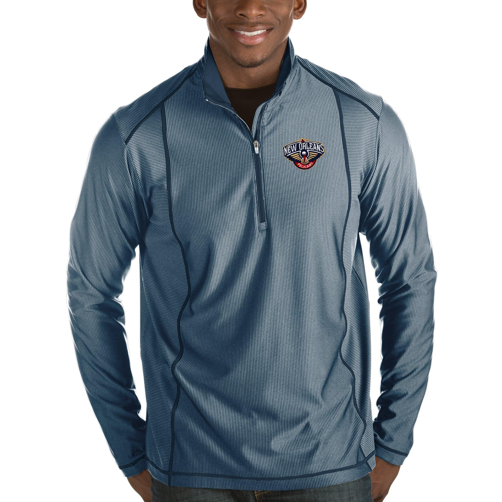 New Orleans Pelicans Antigua Tempo Half-Zip Pullover Jacket - Navy