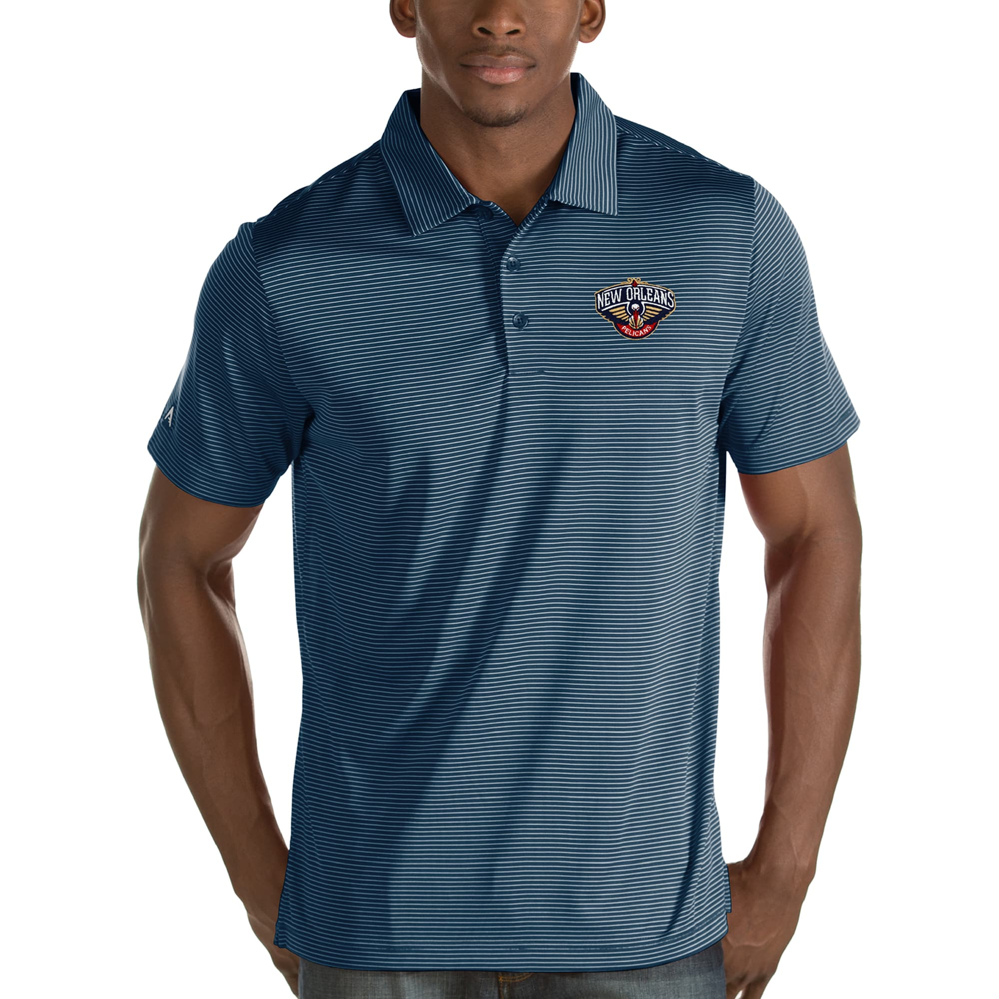New Orleans Pelicans Antigua Quest Polo - Navy