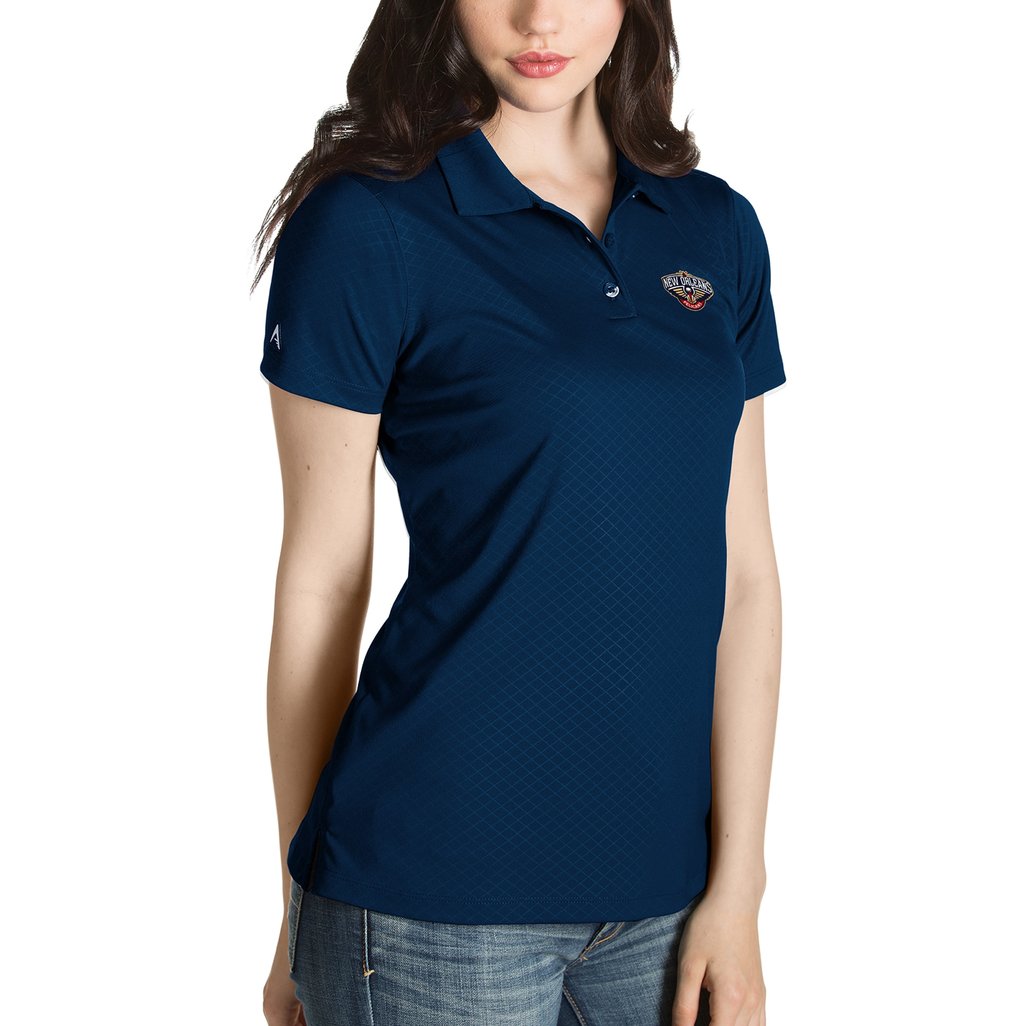 New Orleans Pelicans Antigua Women's Inspire Polo - Navy