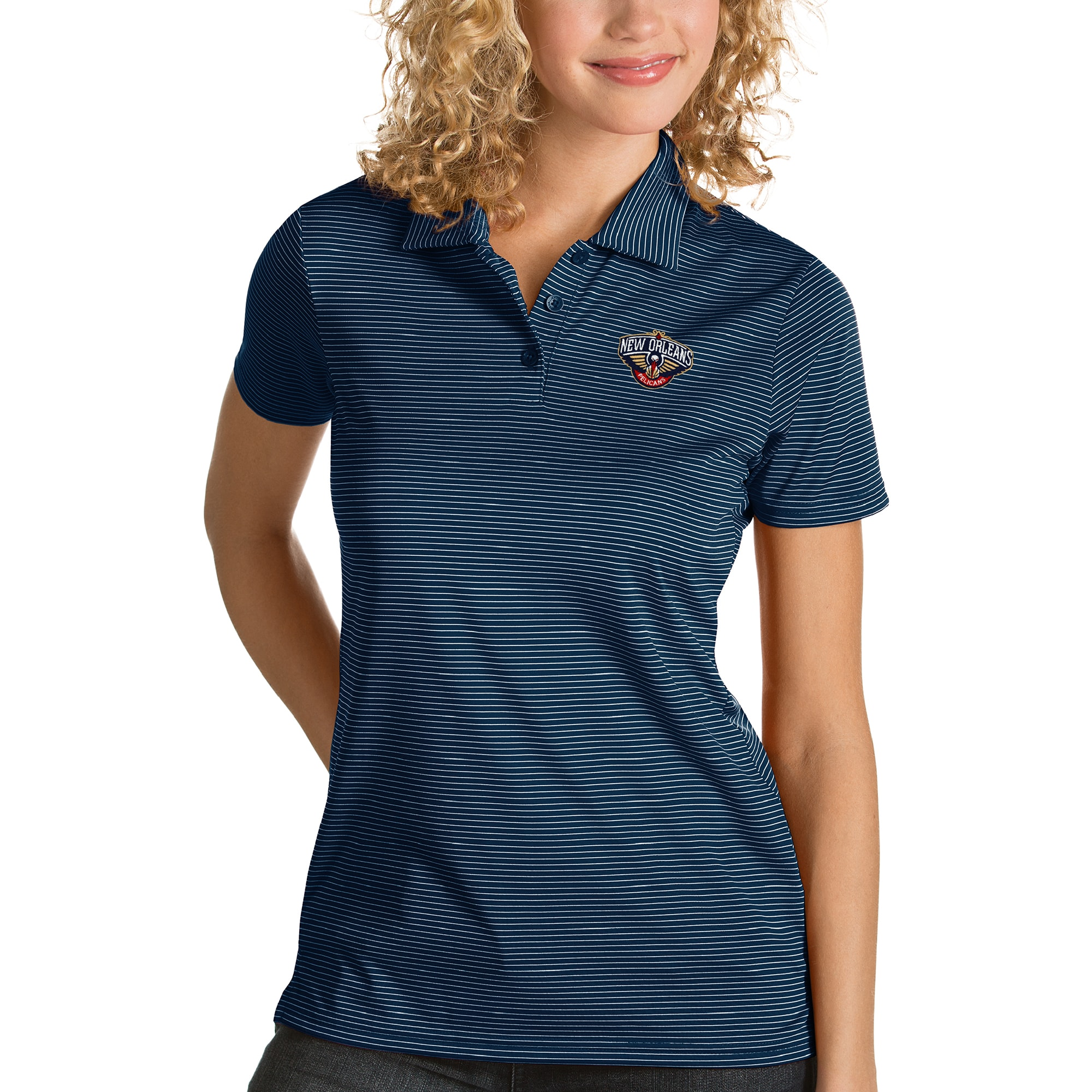 New Orleans Pelicans Antigua Women's Quest Polo - Navy