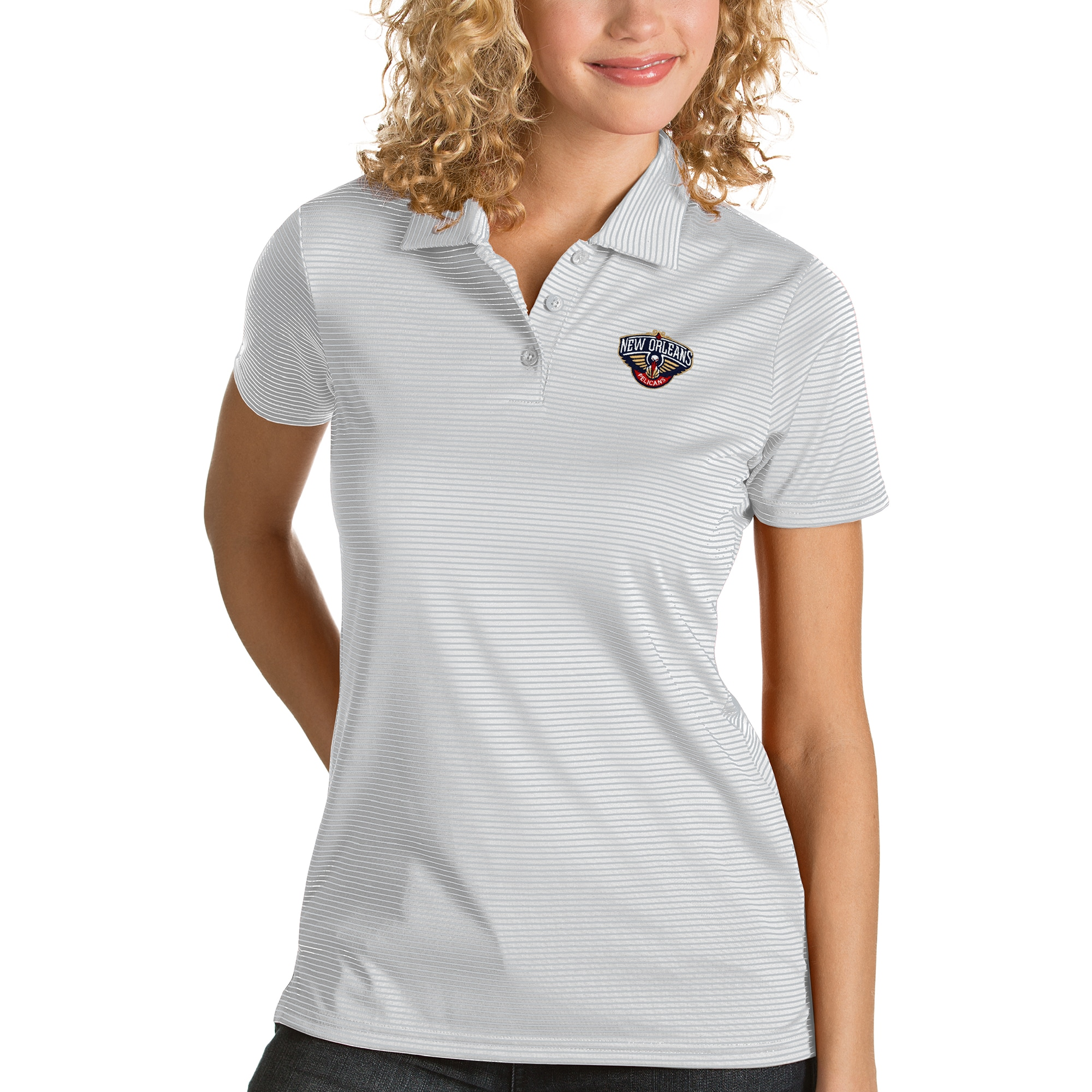 New Orleans Pelicans Antigua Women's Quest Polo - White