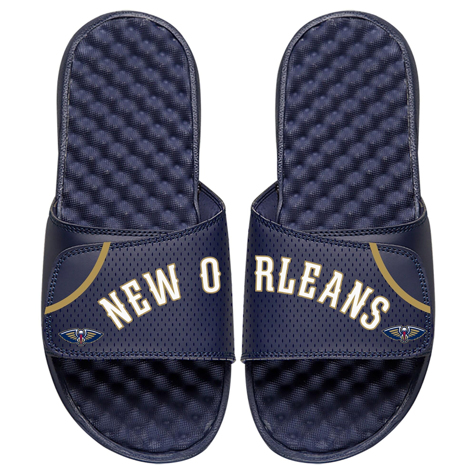 New Orleans Pelicans ISlide Home Jersey Split Slide Sandals - Navy