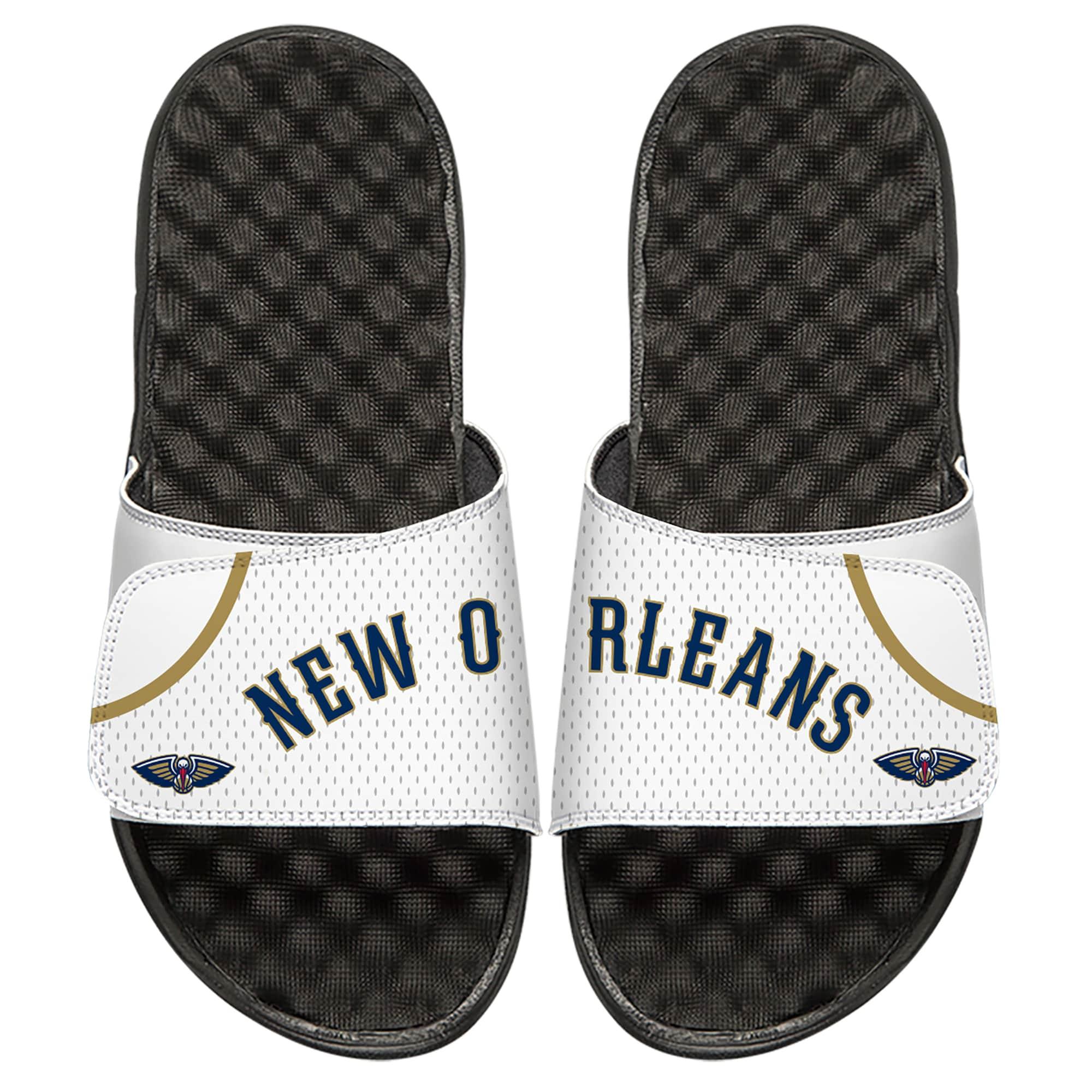 New Orleans Pelicans ISlide Home Jersey Split Slide Sandals - White