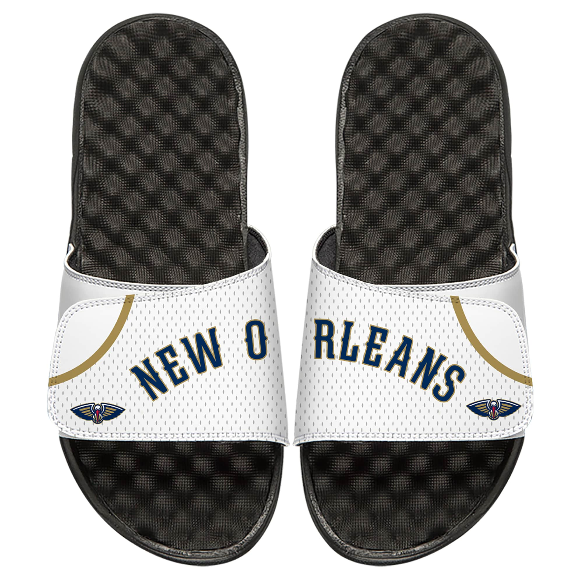 New Orleans Pelicans ISlide Youth Home Jersey Slide Sandals - White