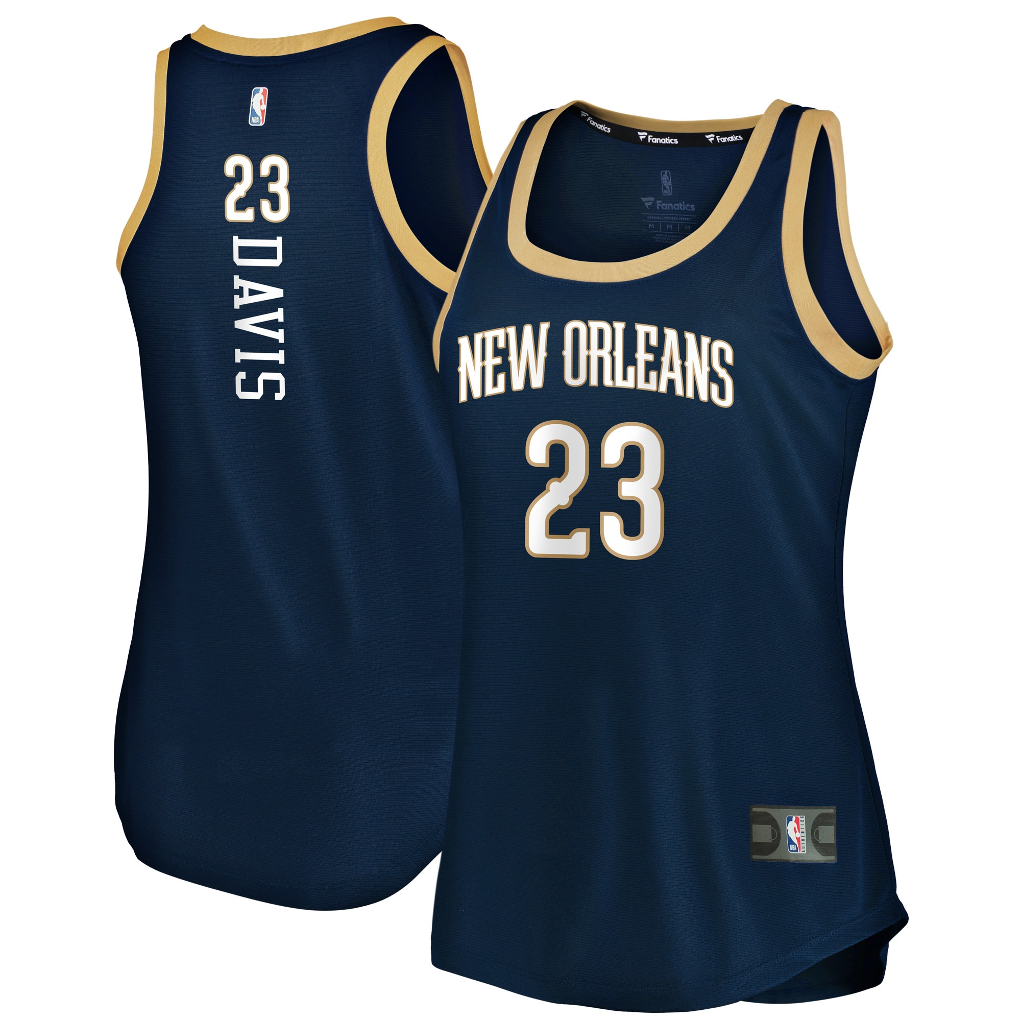 Anthony Davis New Orleans Pelicans Fanatics Branded Women's Fast Break Tank Jersey - Icon Edition - Navy