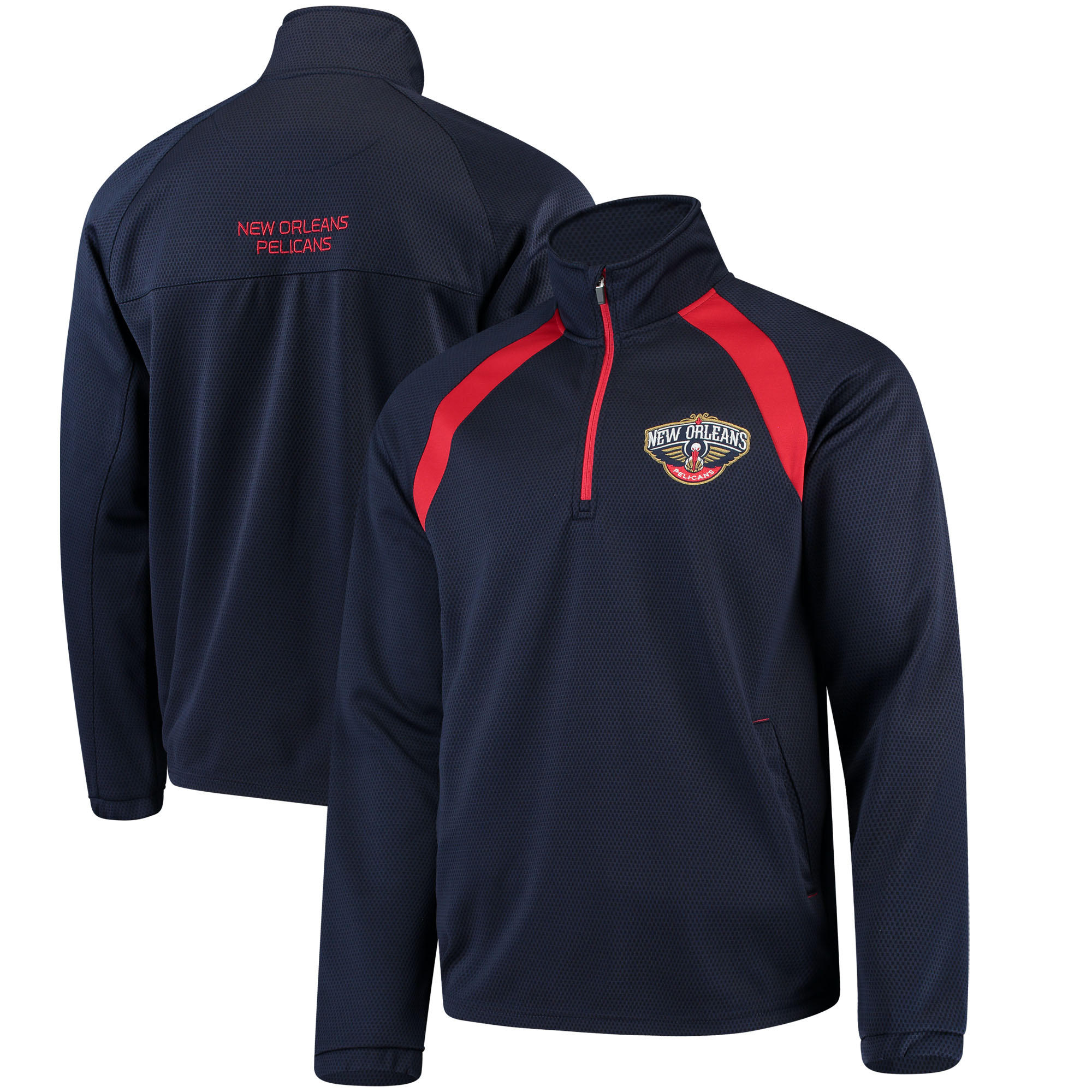 New Orleans Pelicans G-III Sports by Carl Banks High Impact Quarter-Zip Pullover Jacket - Navy