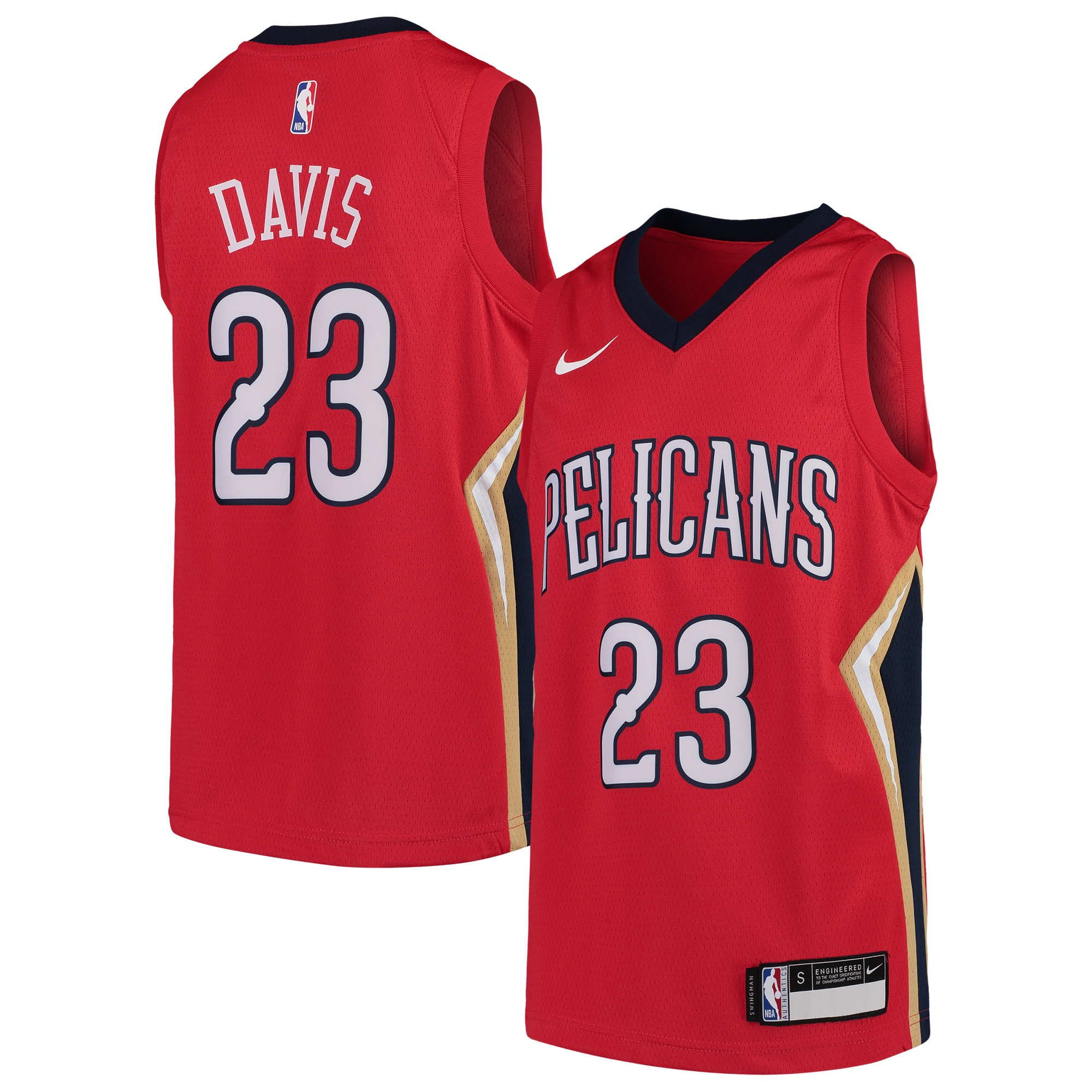 Anthony Davis New Orleans Pelicans Nike Youth Swingman Jersey - Red