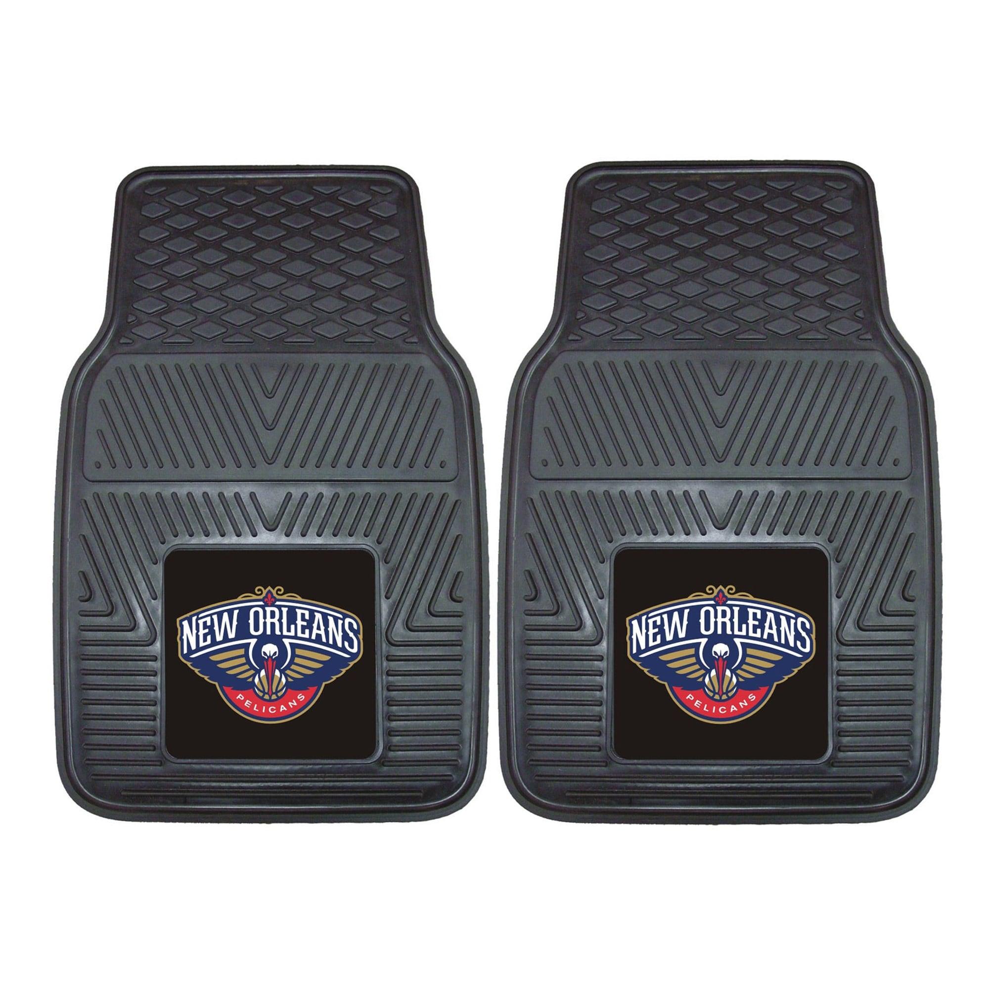 "New Orleans Pelicans 27"" x 18"" 2-Pack Vinyl Car Mat Set"