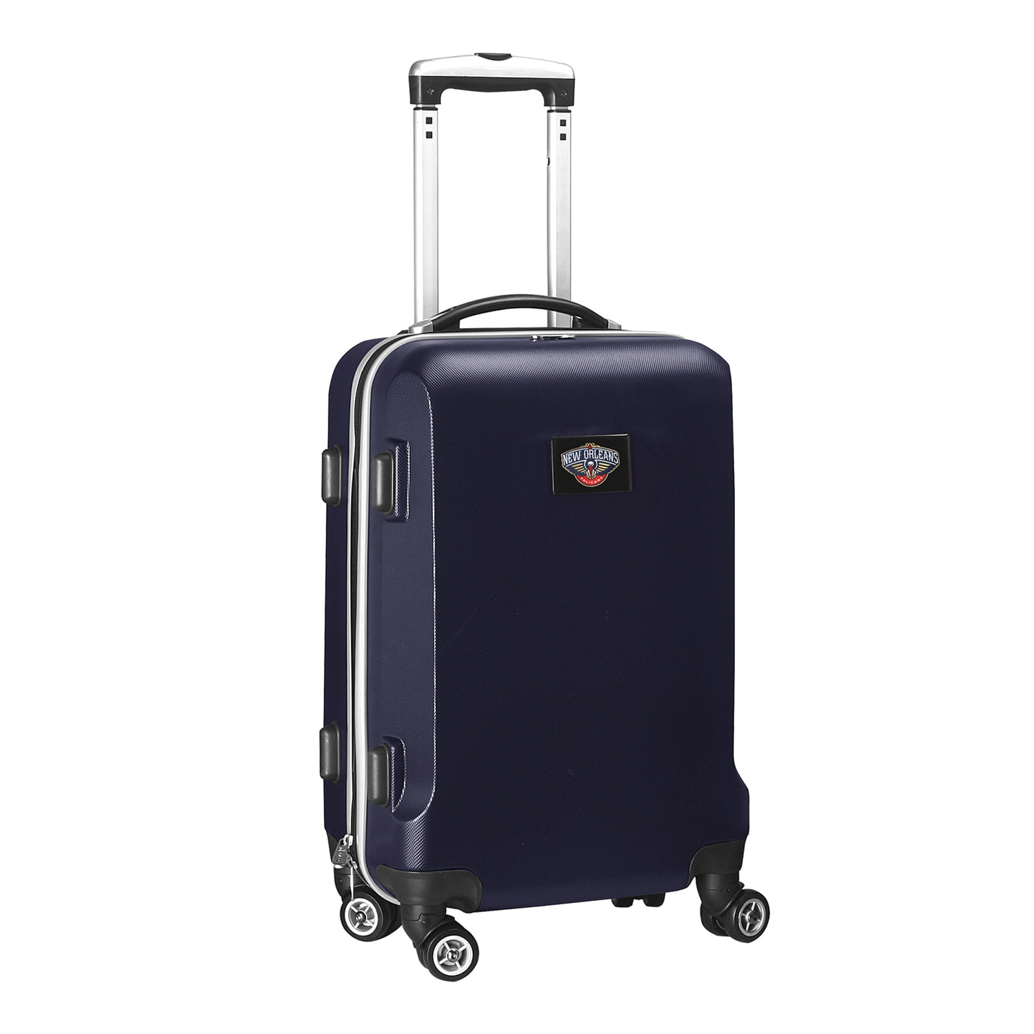 """New Orleans Pelicans 21"""" 8-Wheel Hardcase Spinner Carry-On - Navy"""