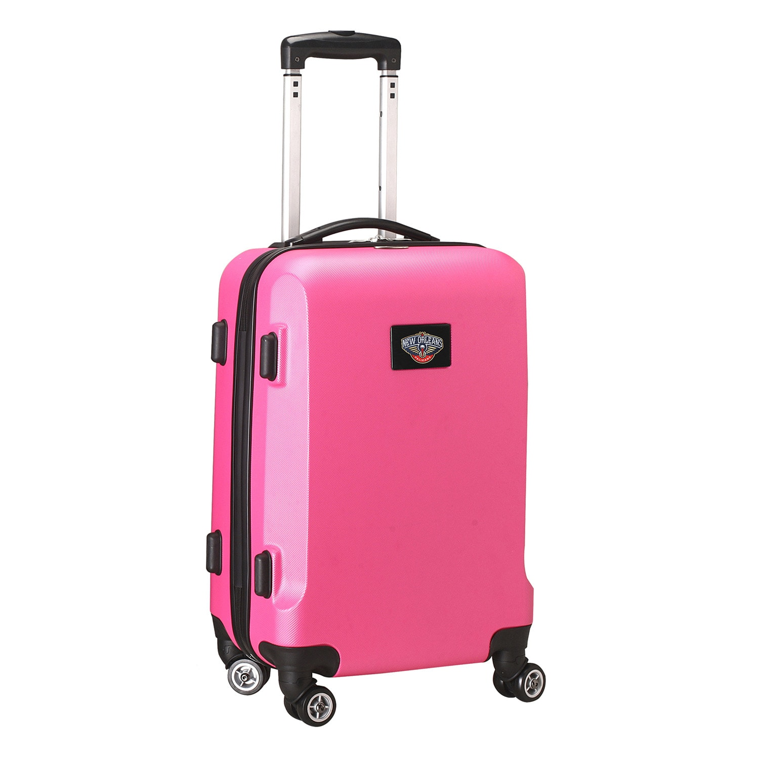 """New Orleans Pelicans 21"""" 8-Wheel Hardcase Spinner Carry-On - Pink"""