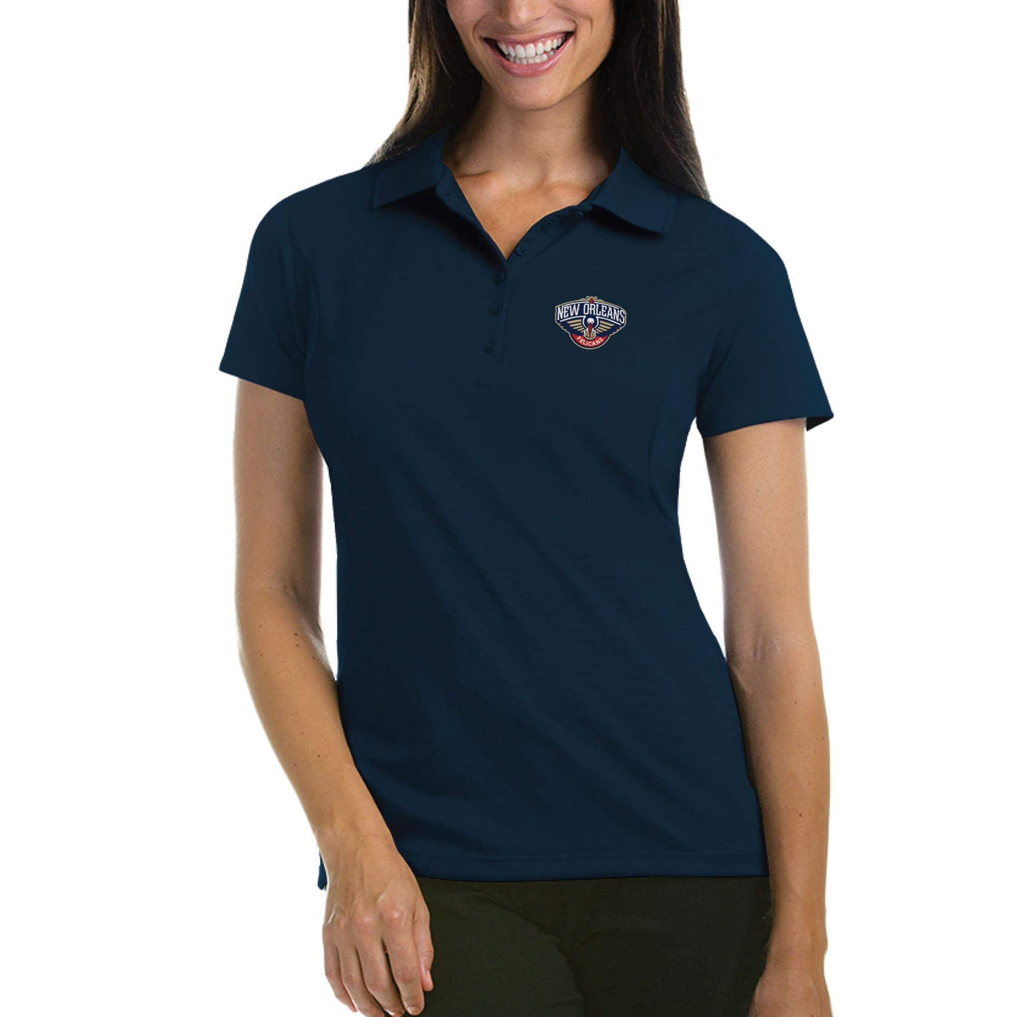 New Orleans Pelicans Antigua Women's Pique Xtra-Lite Polo - Navy