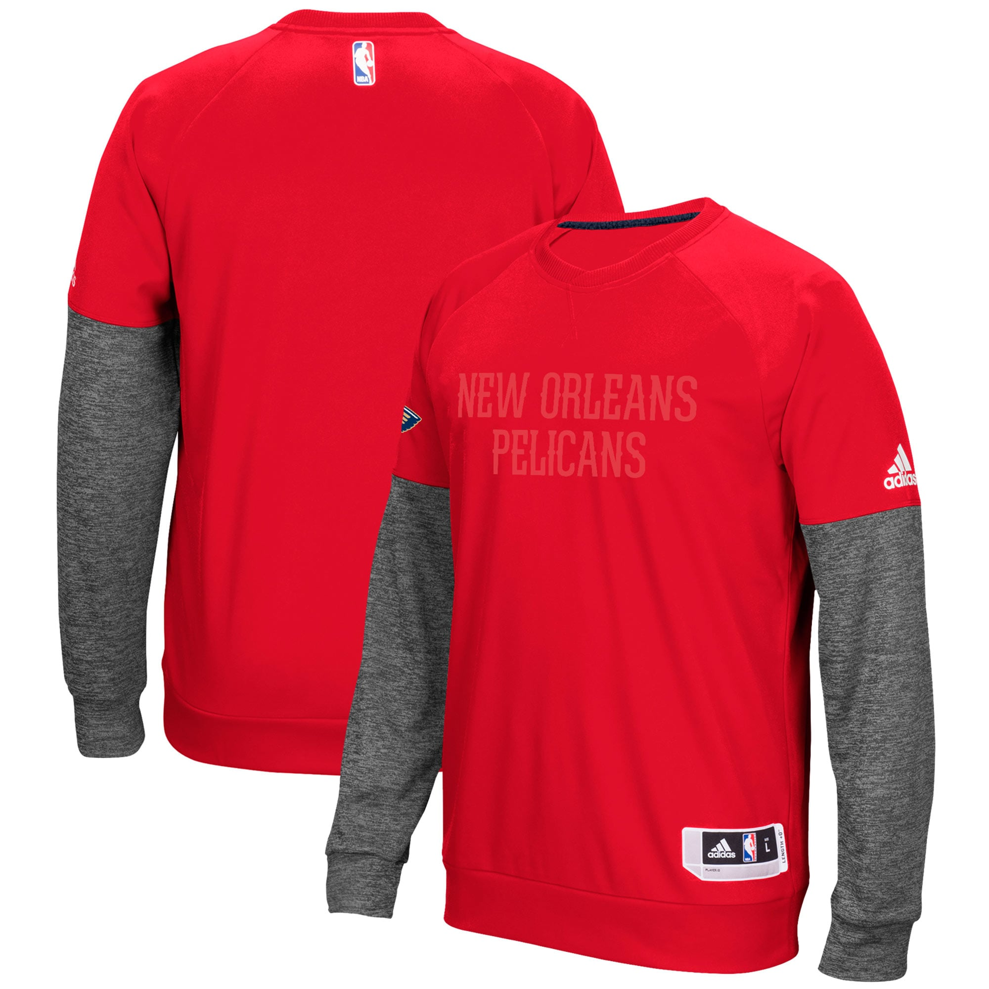 New Orleans Pelicans adidas 2016 Christmas Day Second Half Pullover Sweatshirt - Red