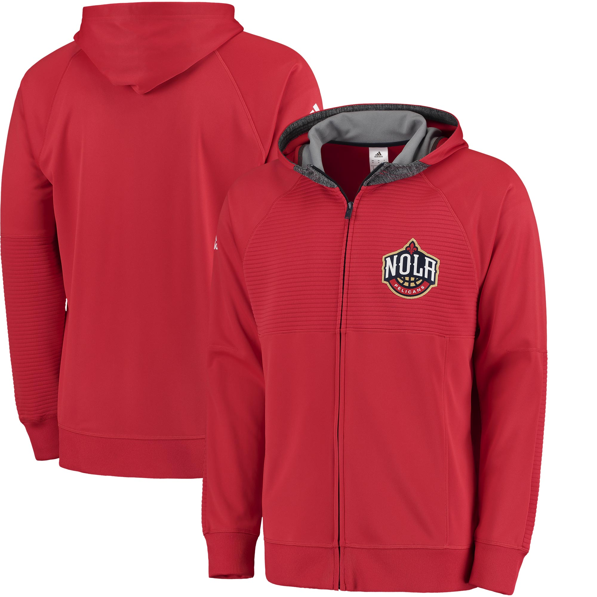 New Orleans Pelicans adidas 2016 Pre-Game Full-Zip Hooded Jacket - Red