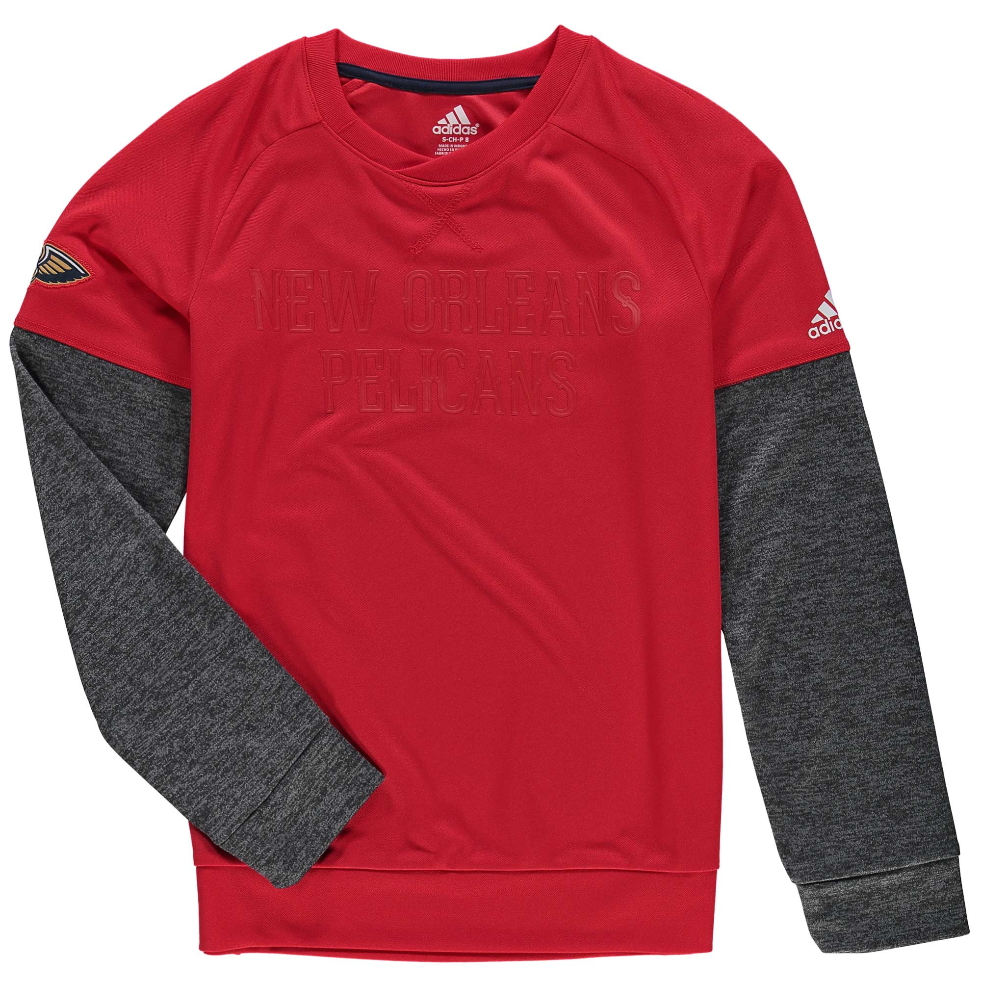 New Orleans Pelicans adidas Youth On-Court Shooter Sweatshirt - Red