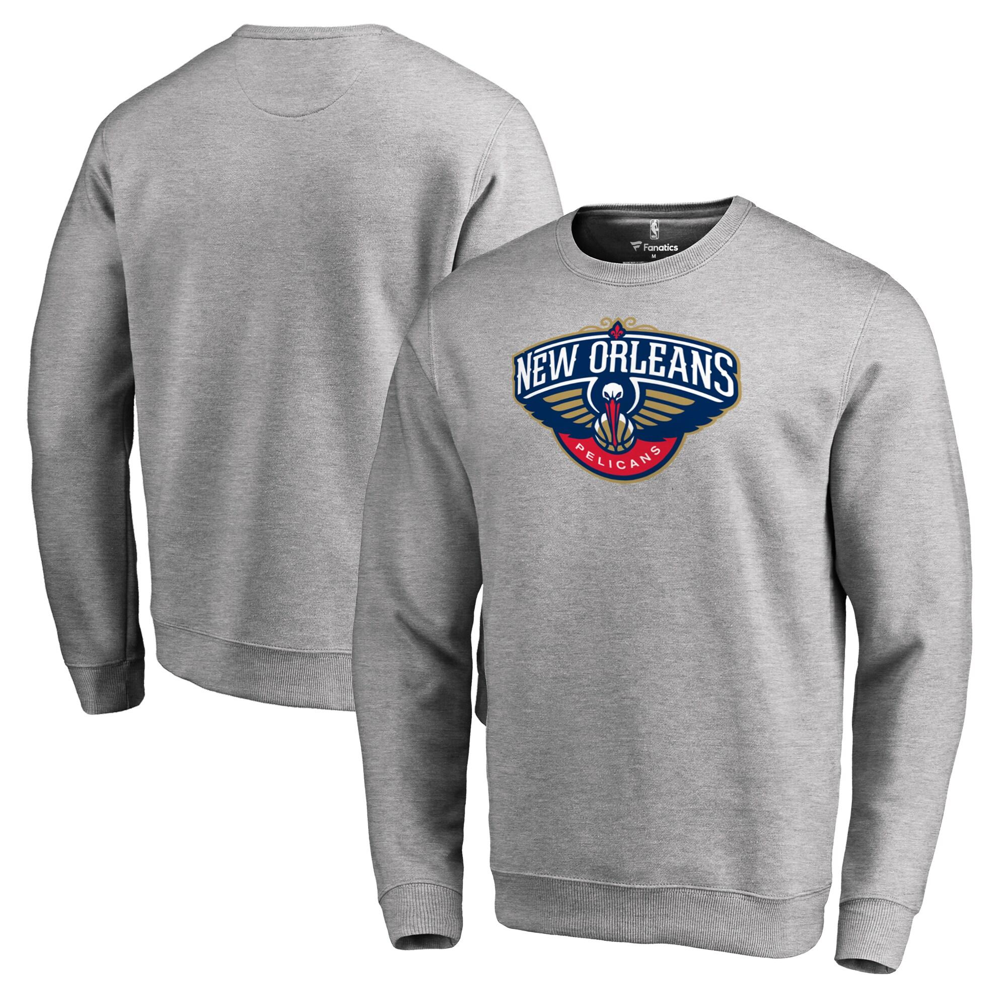 New Orleans Pelicans Fanatics Branded Primary Logo Sweatshirt - Heathered Gray