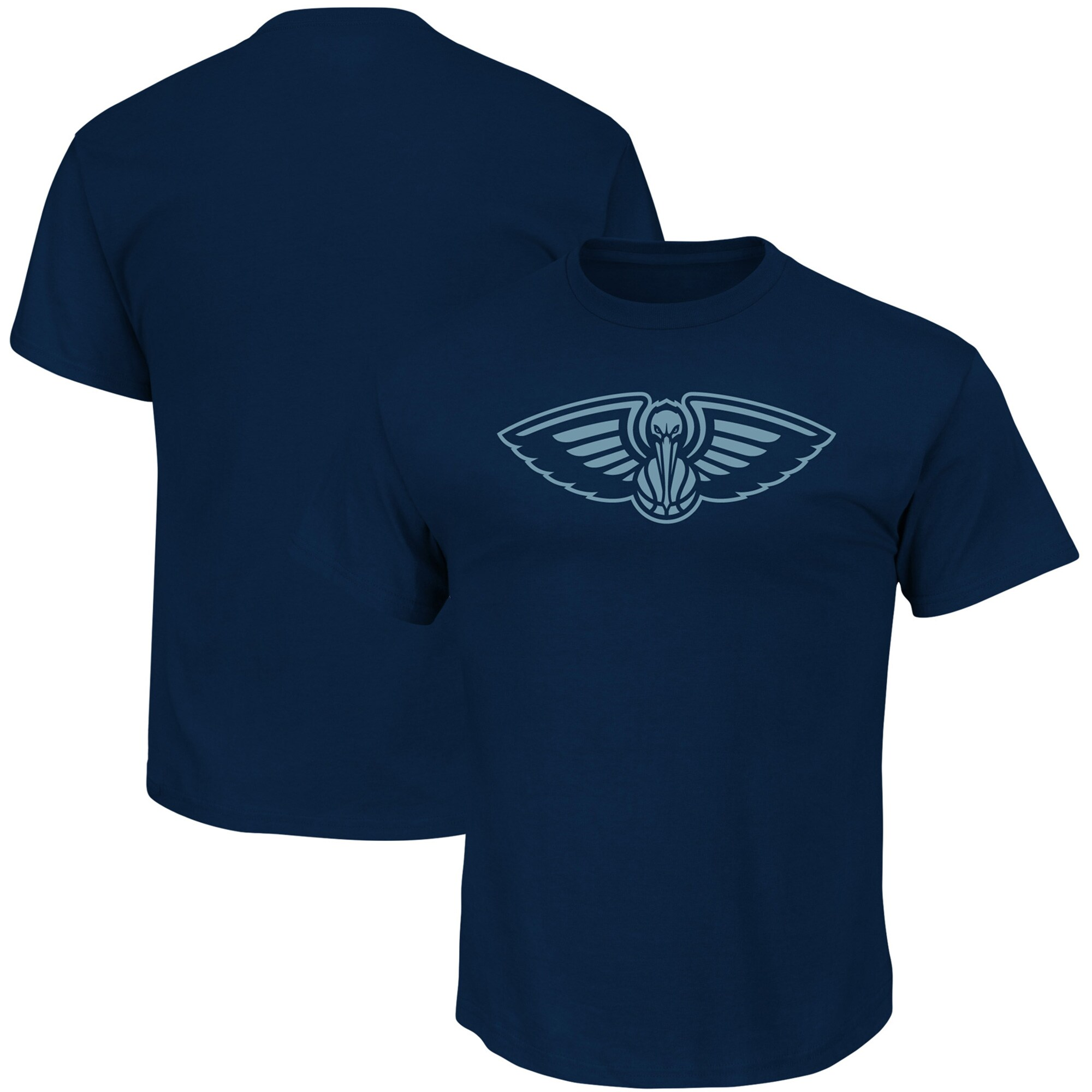 New Orleans Pelicans Majestic Reflective Tek Patch T-Shirt - Navy