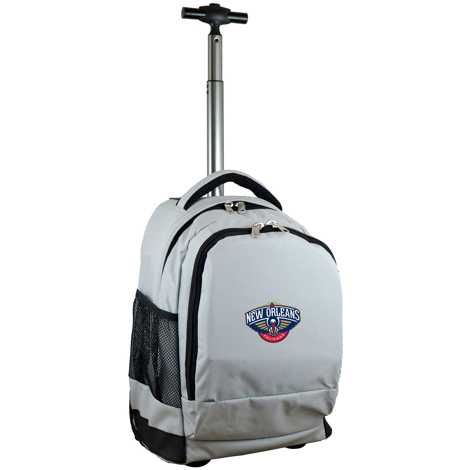 New Orleans Pelicans 19'' Premium Wheeled Backpack - Gray