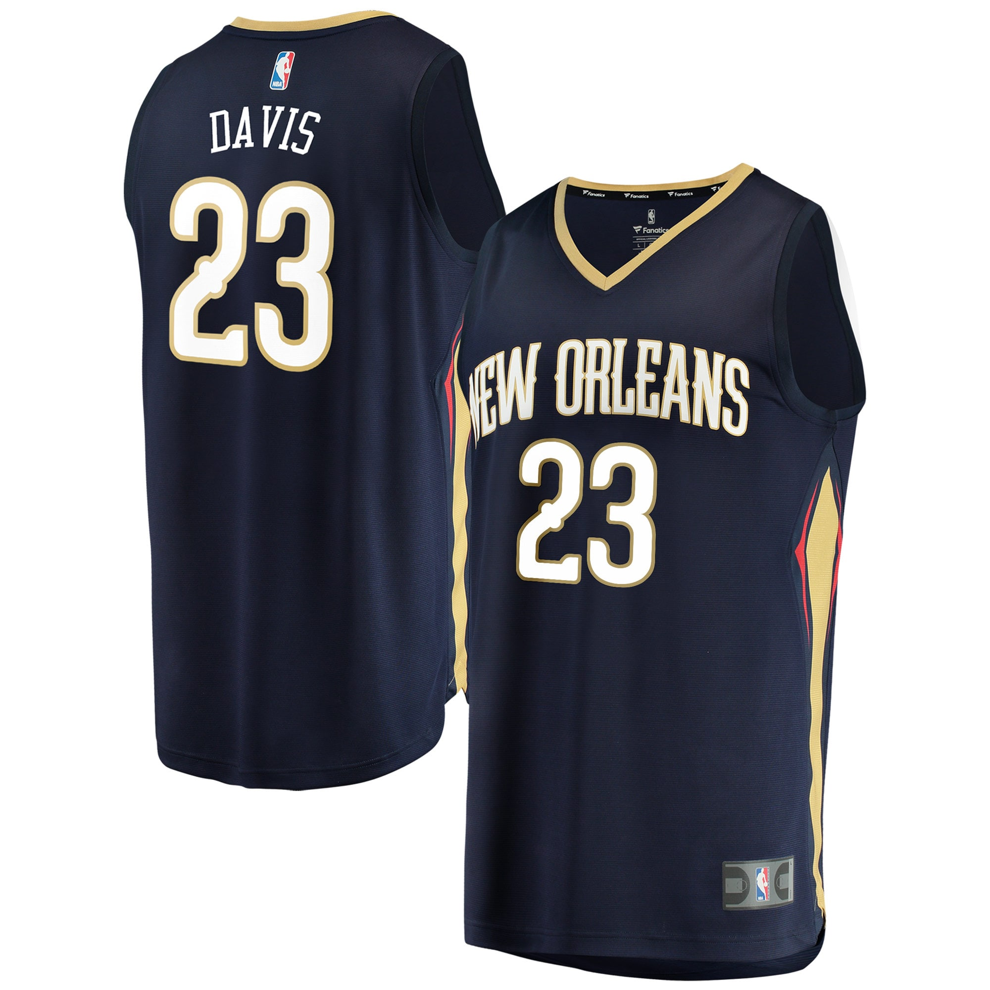 Anthony Davis New Orleans Pelicans Fanatics Branded Youth Fast Break Replica Jersey Navy - Icon Edition