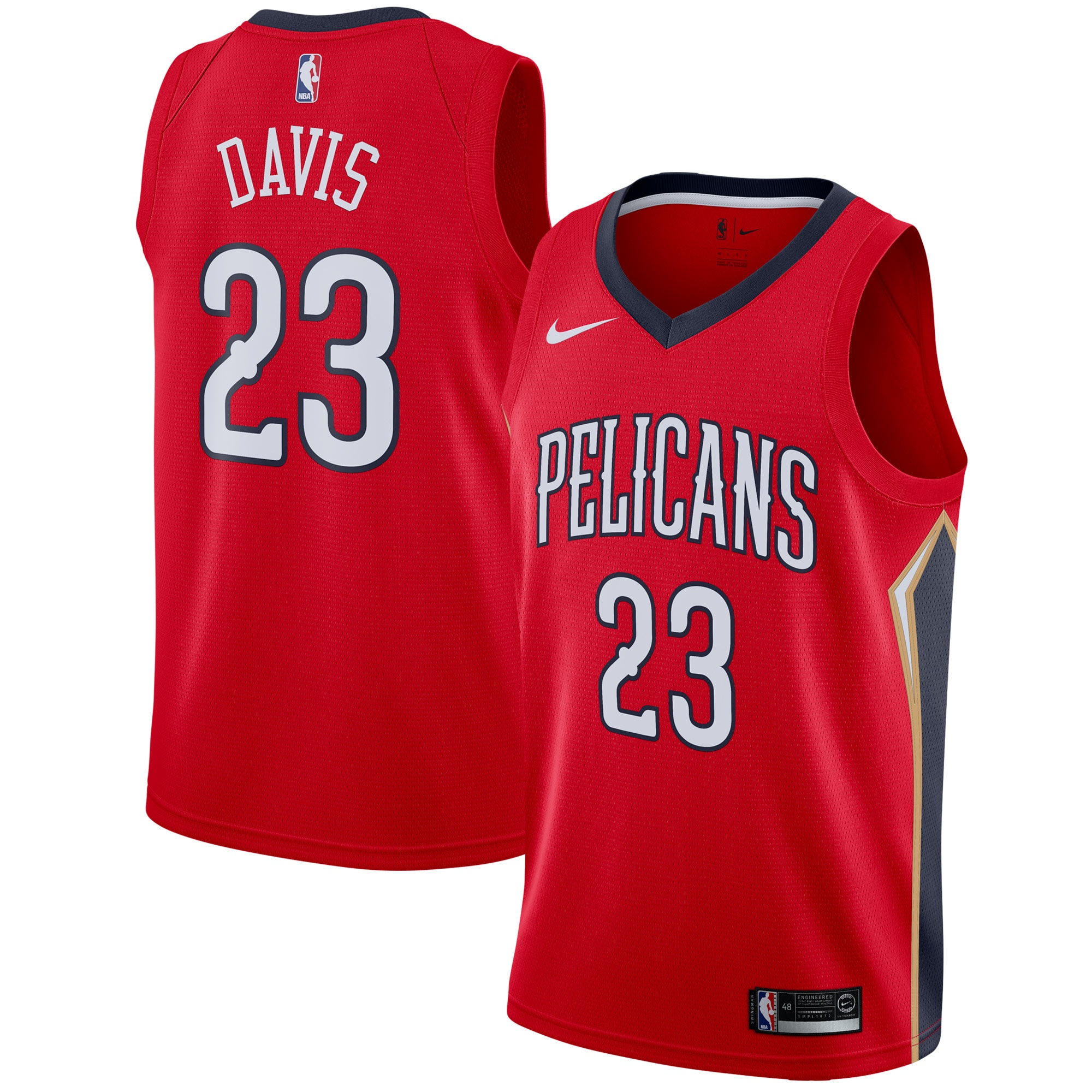 Anthony Davis New Orleans Pelicans Nike Swingman Jersey - Statement Edition - Red