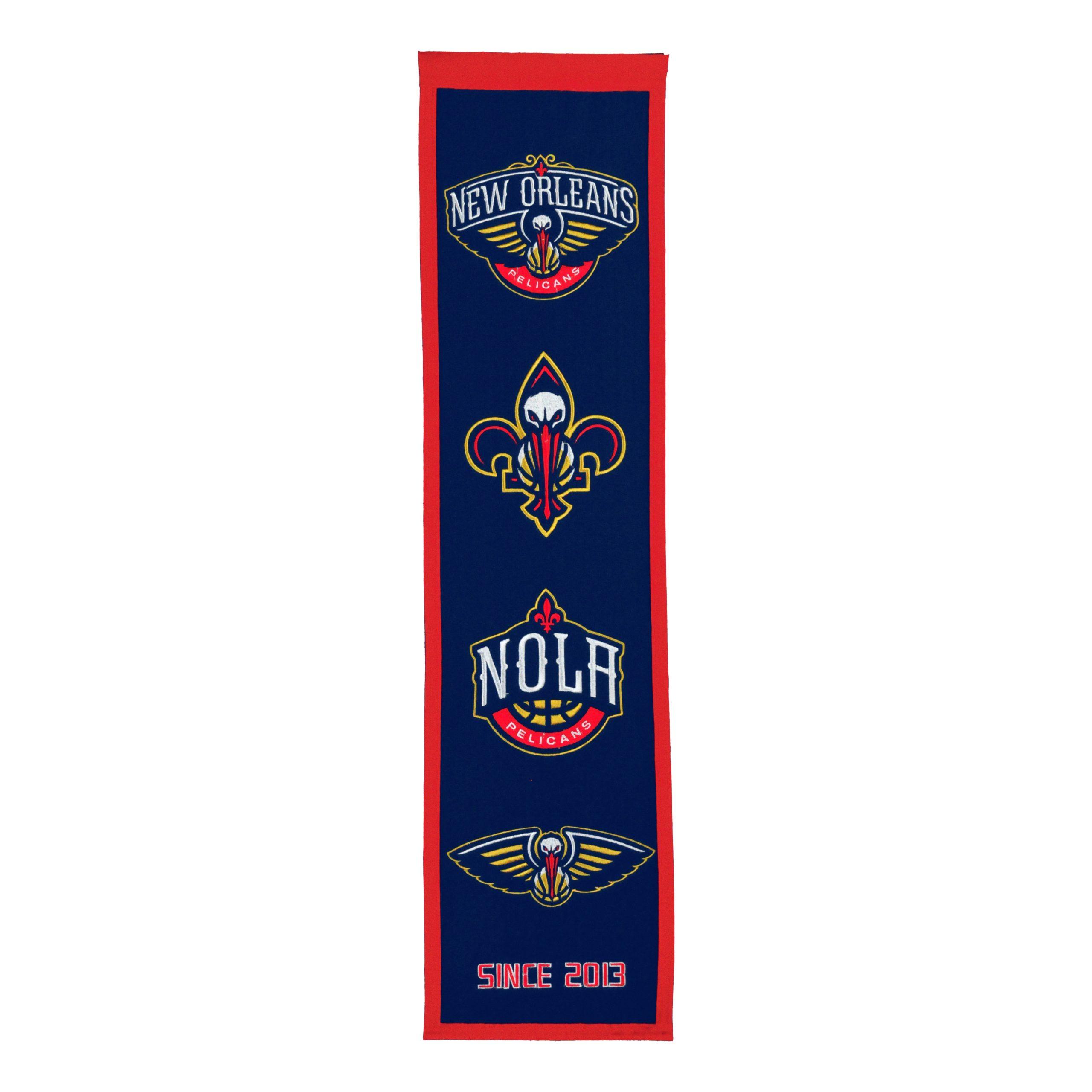 "New Orleans Pelicans 8"" x 32"" Premium Heritage Banner"